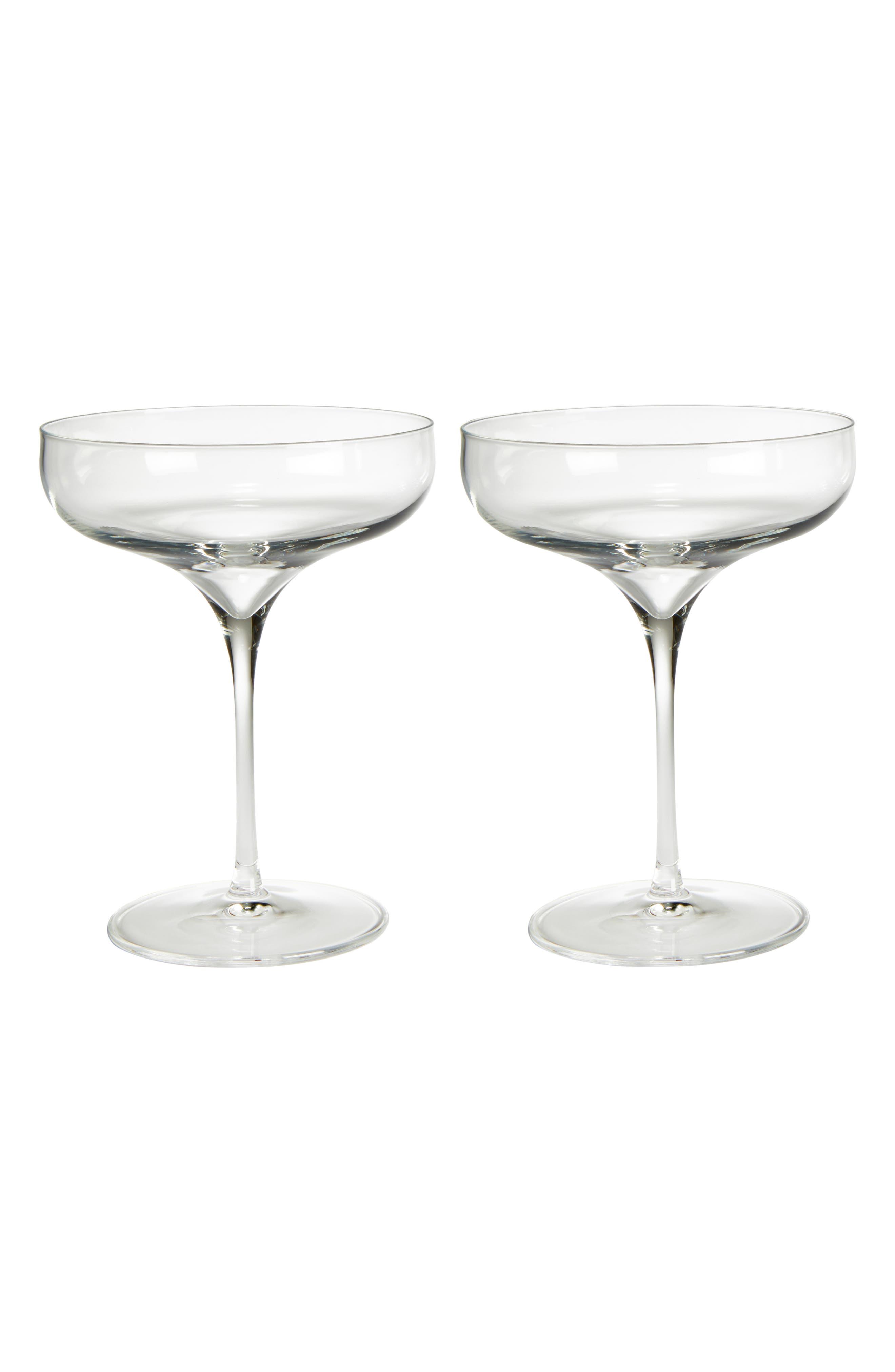 Luigi Bormiolo Vinea Moscato/Spumante Set of 2 Coupe Glasses,                             Main thumbnail 1, color,                             100