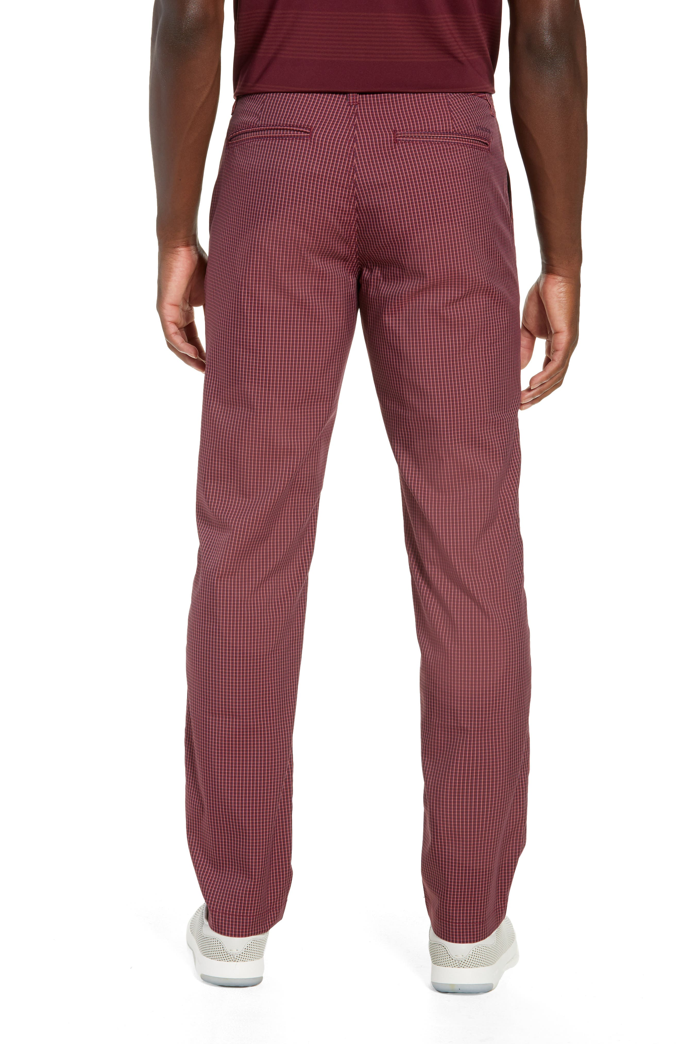 Highland Slim Fit Golf Pants,                             Alternate thumbnail 2, color,                             RED PLAID