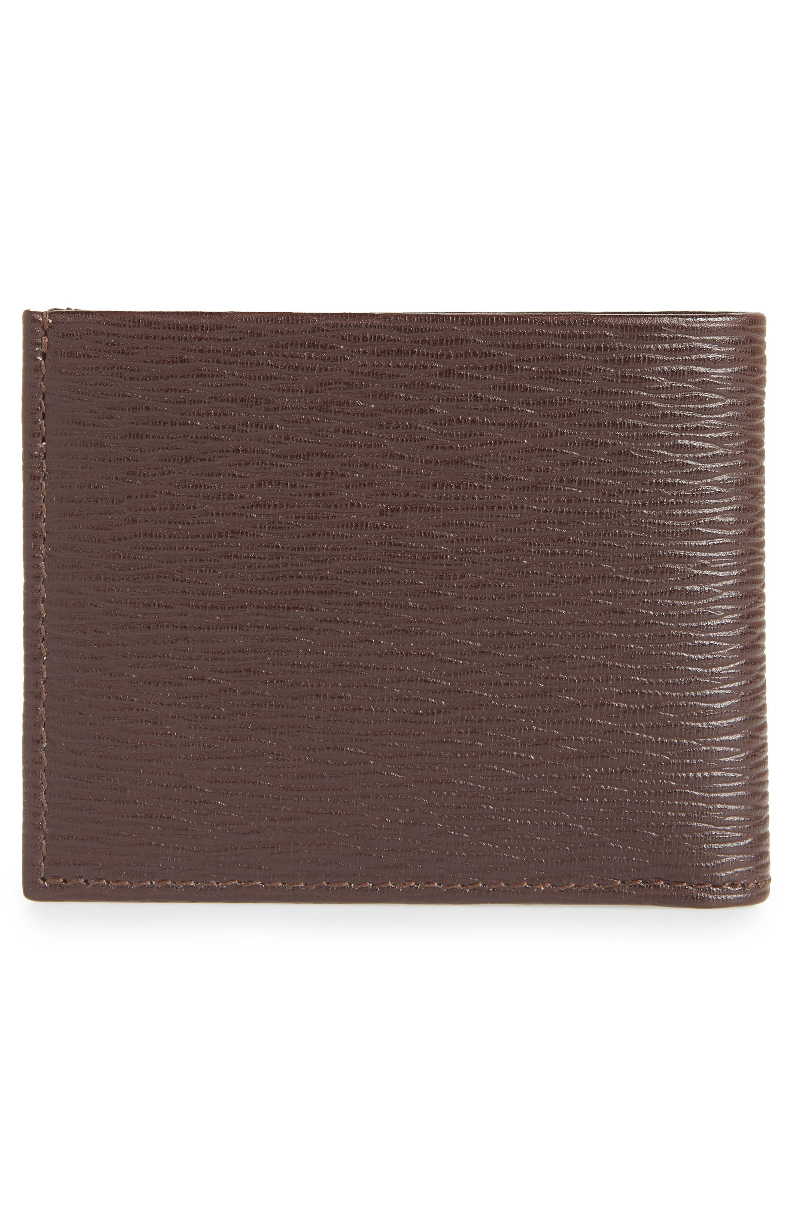 Revival Gancio Bifold Leather Wallet,                             Alternate thumbnail 3, color,                             TOBACCO