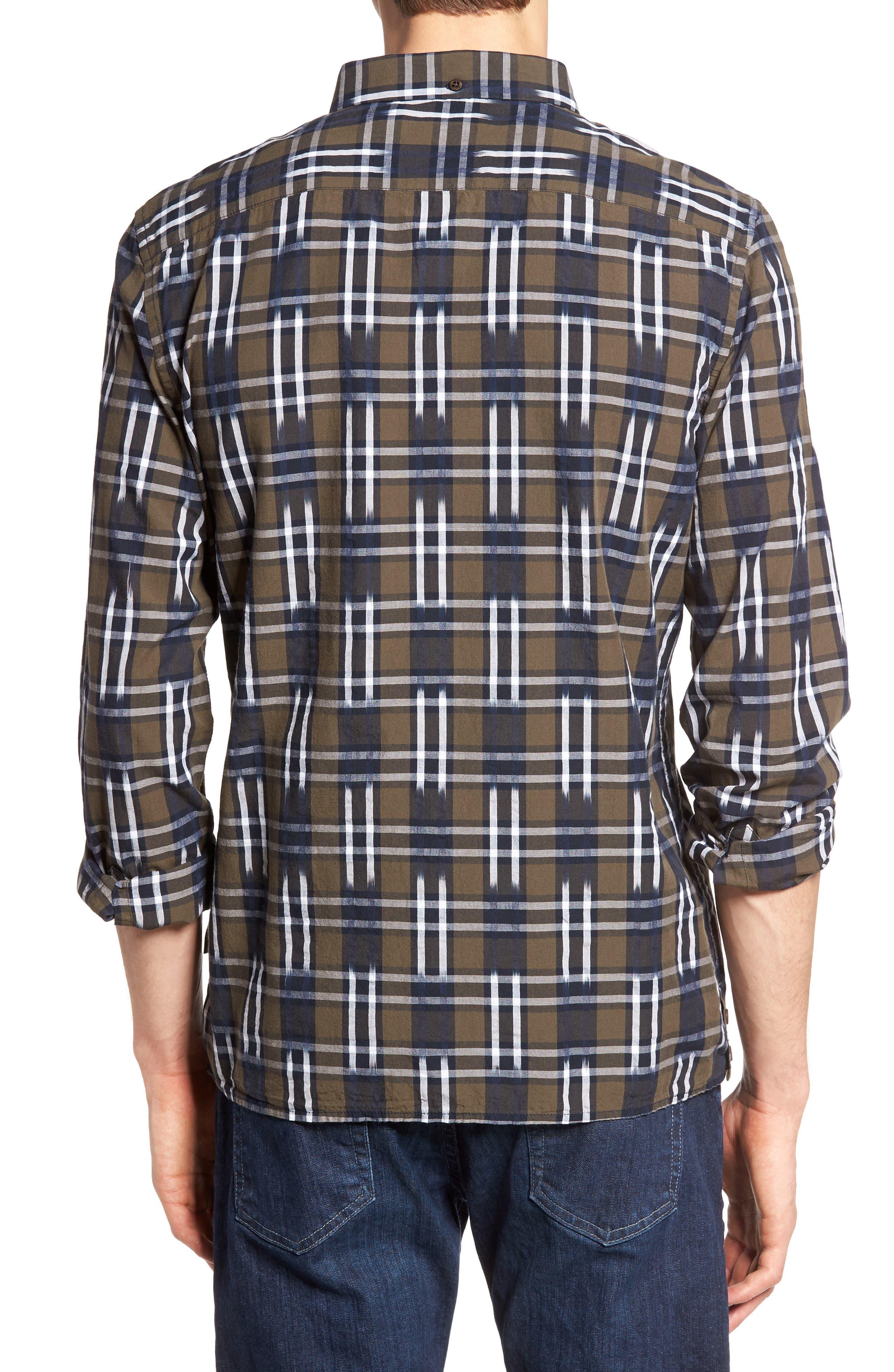 Slim Fit Ikat Check Sport Shirt,                             Alternate thumbnail 2, color,                             250