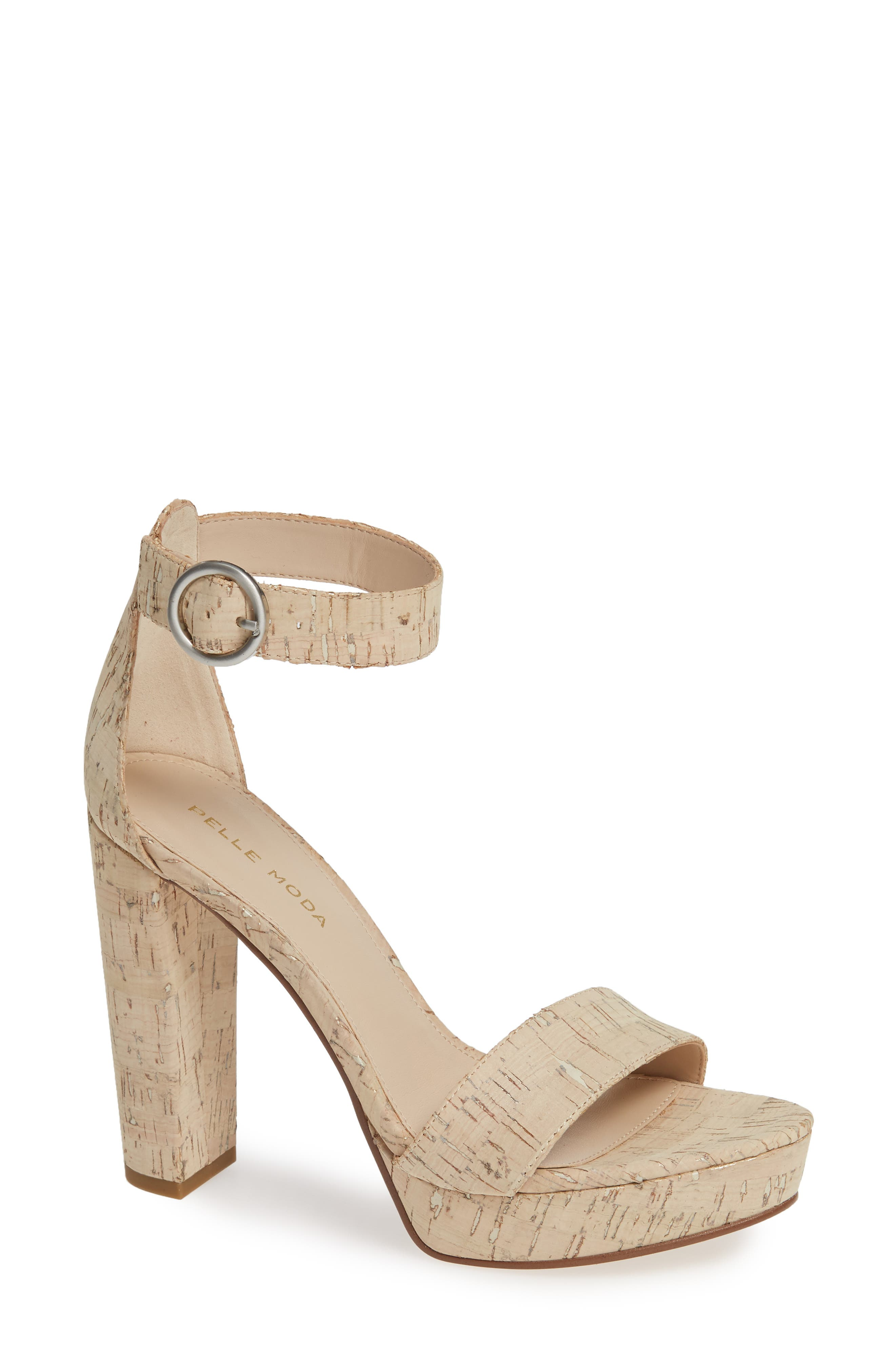 PELLE MODA,                             Palo 2 Platform Sandal,                             Main thumbnail 1, color,                             WHITE WASHED CORK