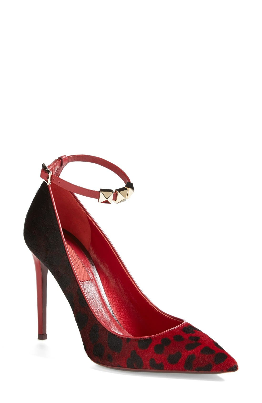 'Rouge Absolute' Ankle Strap Pump,                             Main thumbnail 1, color,                             600