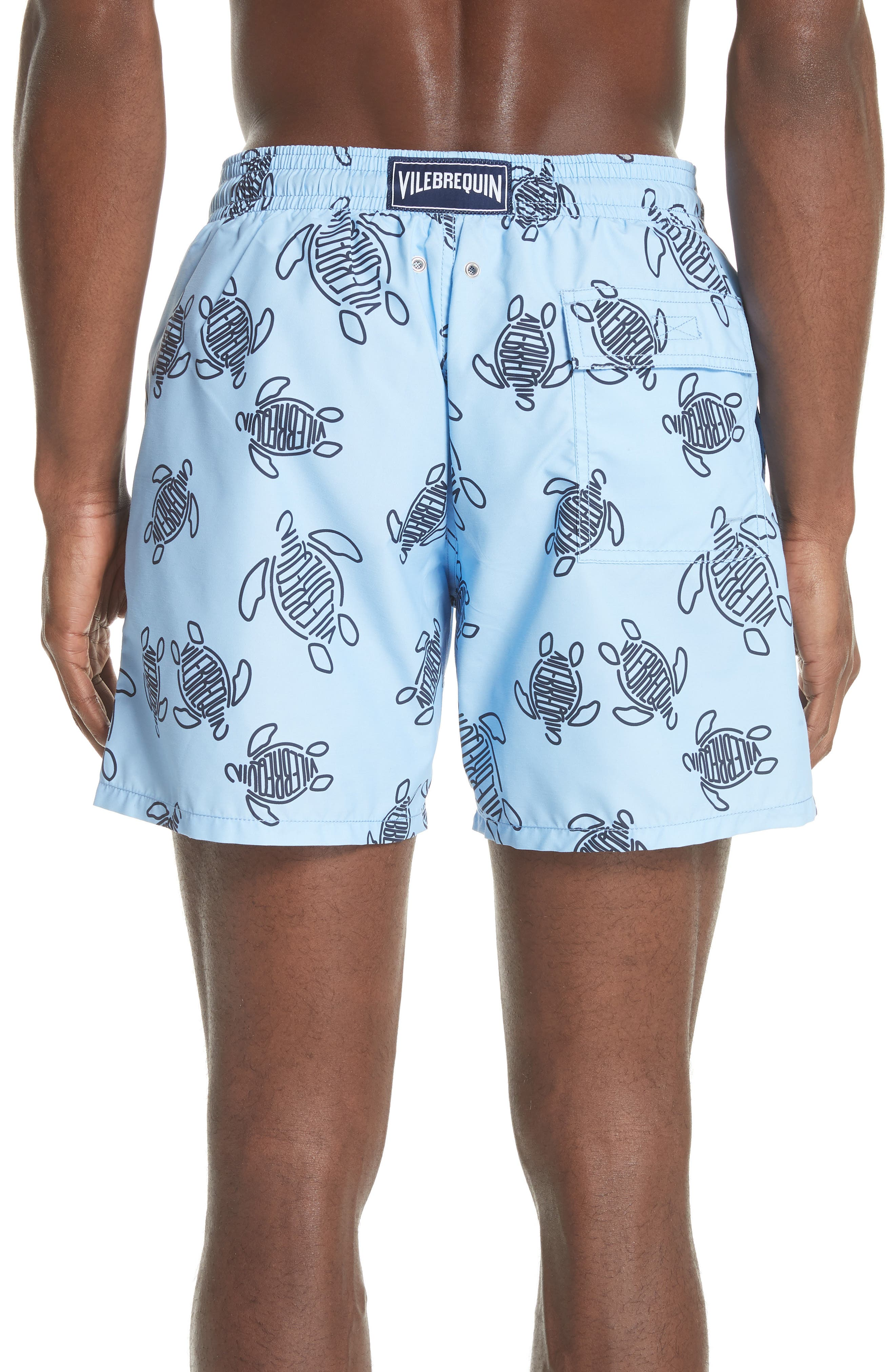 New Vilebrequin Turtle Print Swim Trunks,                             Alternate thumbnail 2, color,                             450