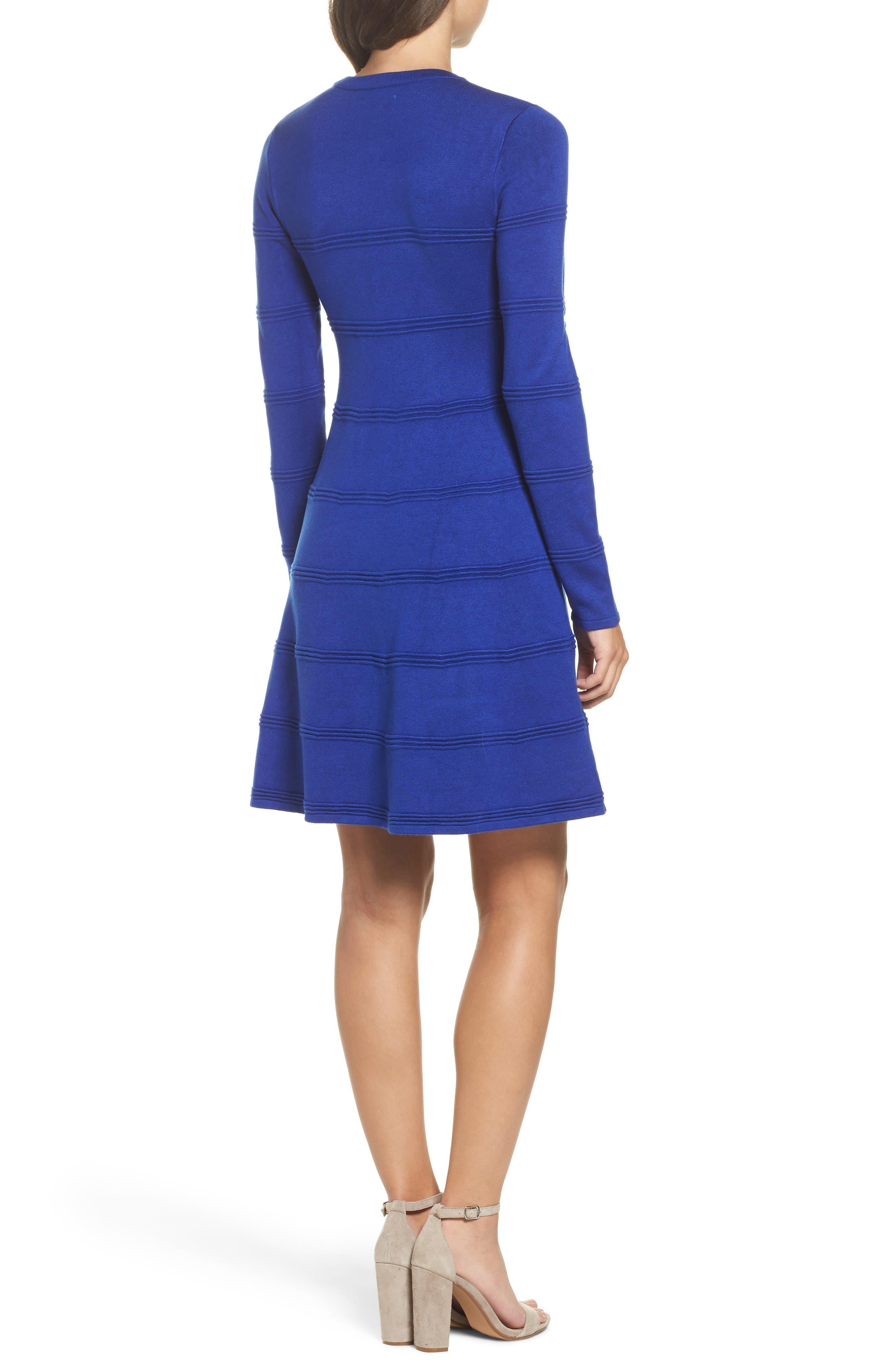 A-Line Sweater Dress,                             Alternate thumbnail 2, color,                             COBALT