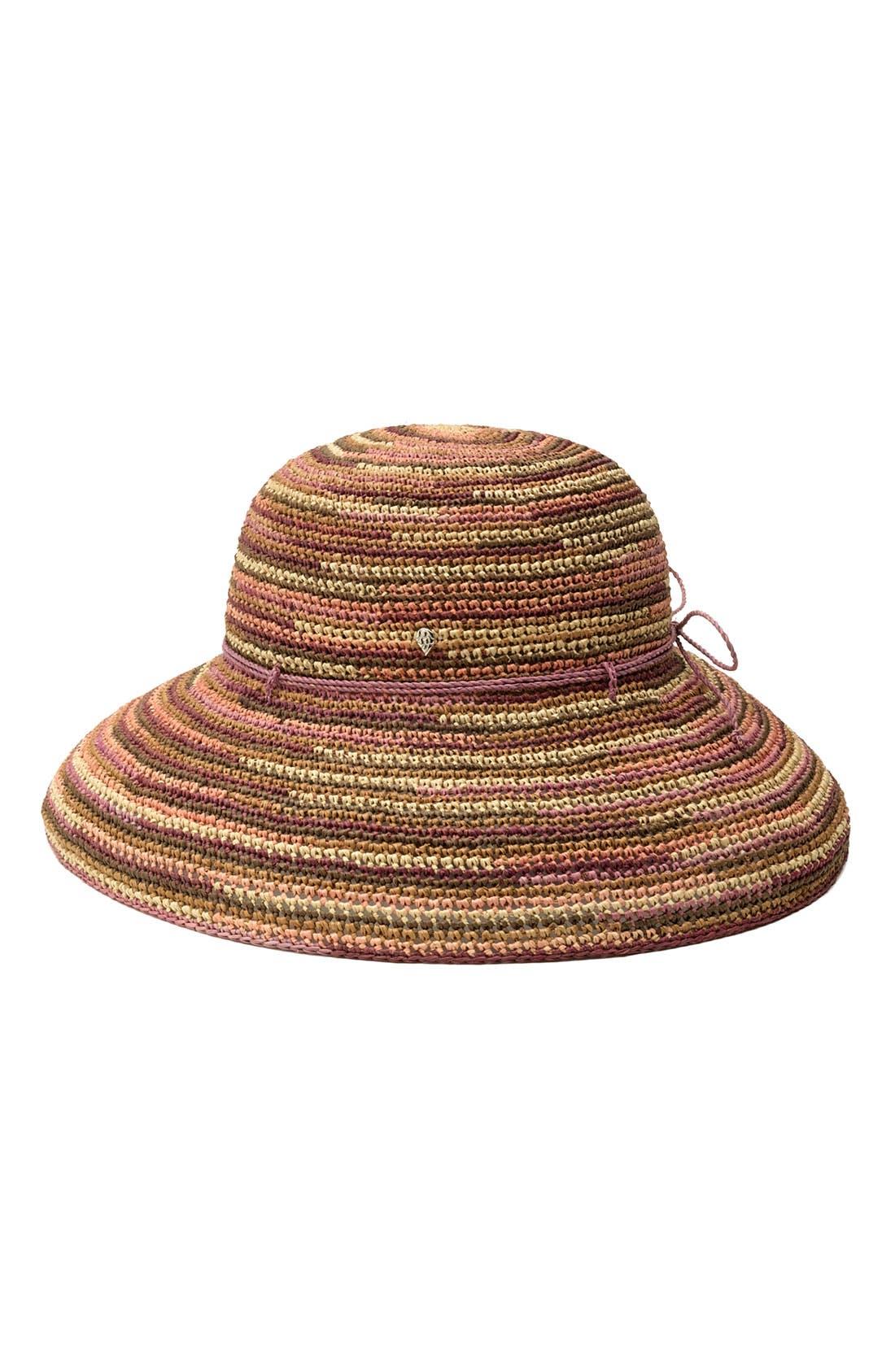 'Provence 12' Packable Raffia Hat,                             Main thumbnail 13, color,