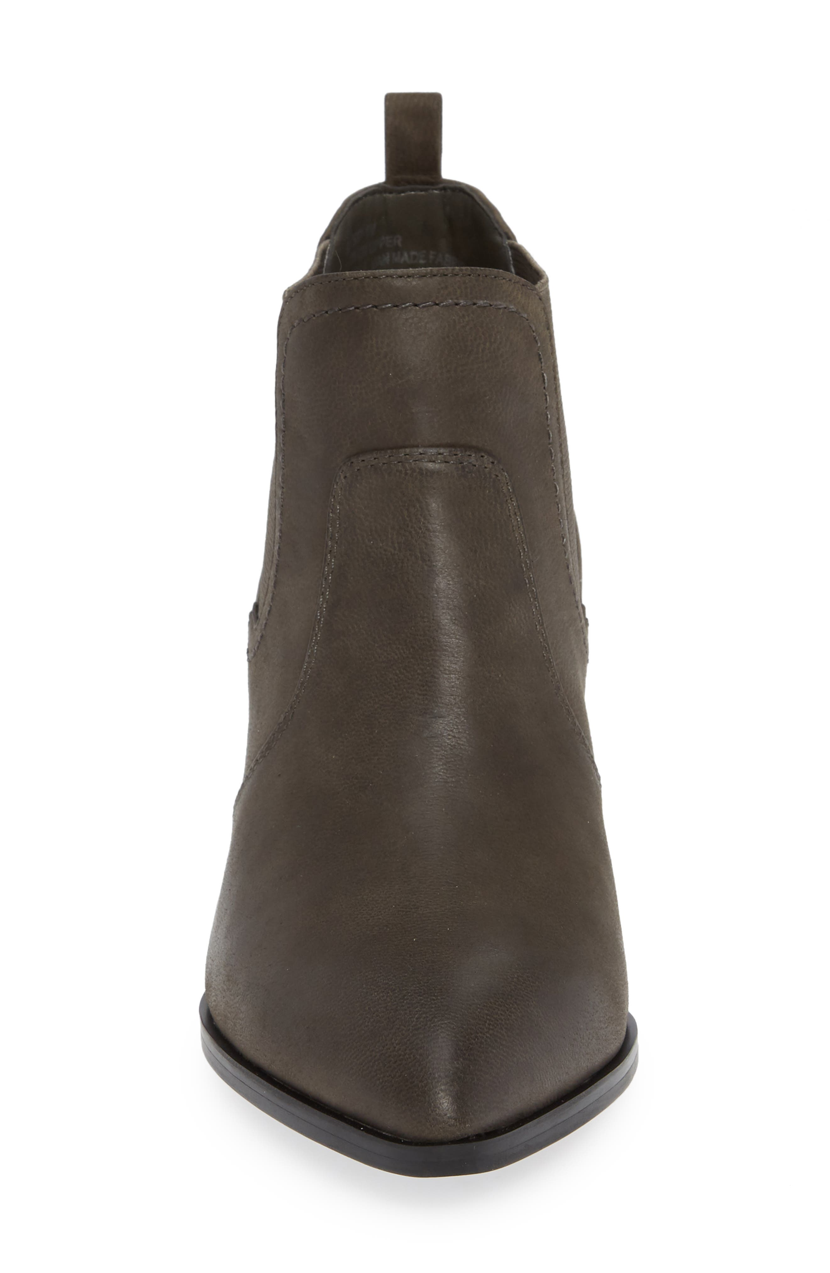 Emerson Chelsea Bootie,                             Alternate thumbnail 4, color,                             GREY BURNISHED LEATHER