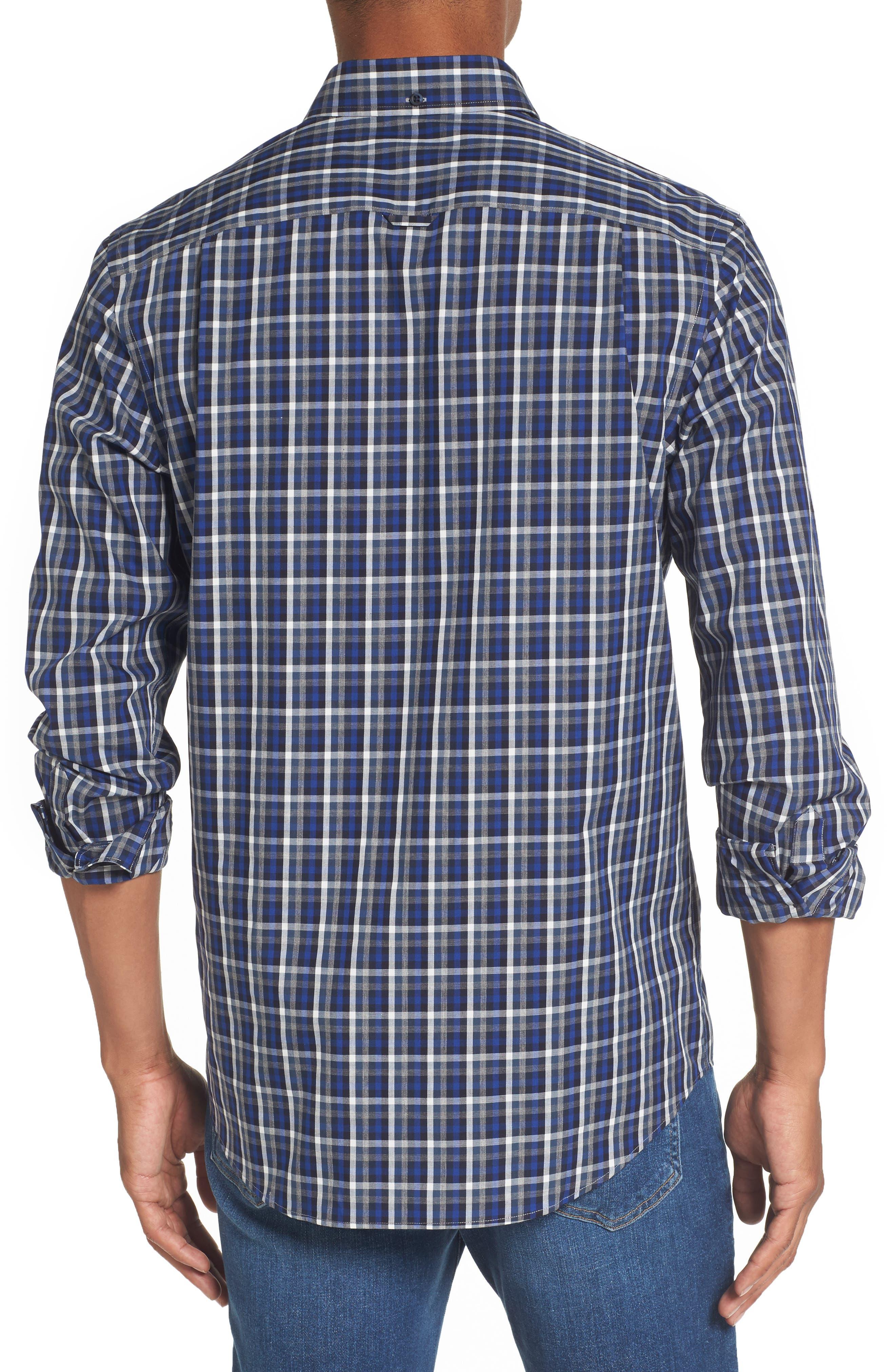 Regular Fit Non-Iron Spade Check Dress Shirt,                             Alternate thumbnail 2, color,                             401
