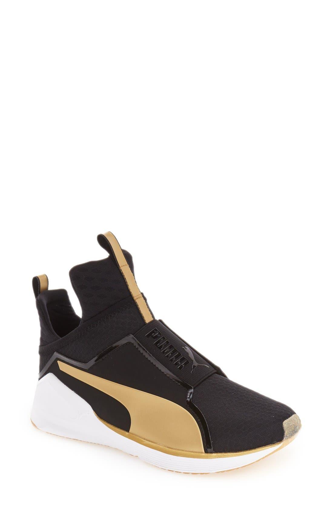 FENTY PUMA by Rihanna 'Fierce Gold' High Top Sneaker, Main, color, 001