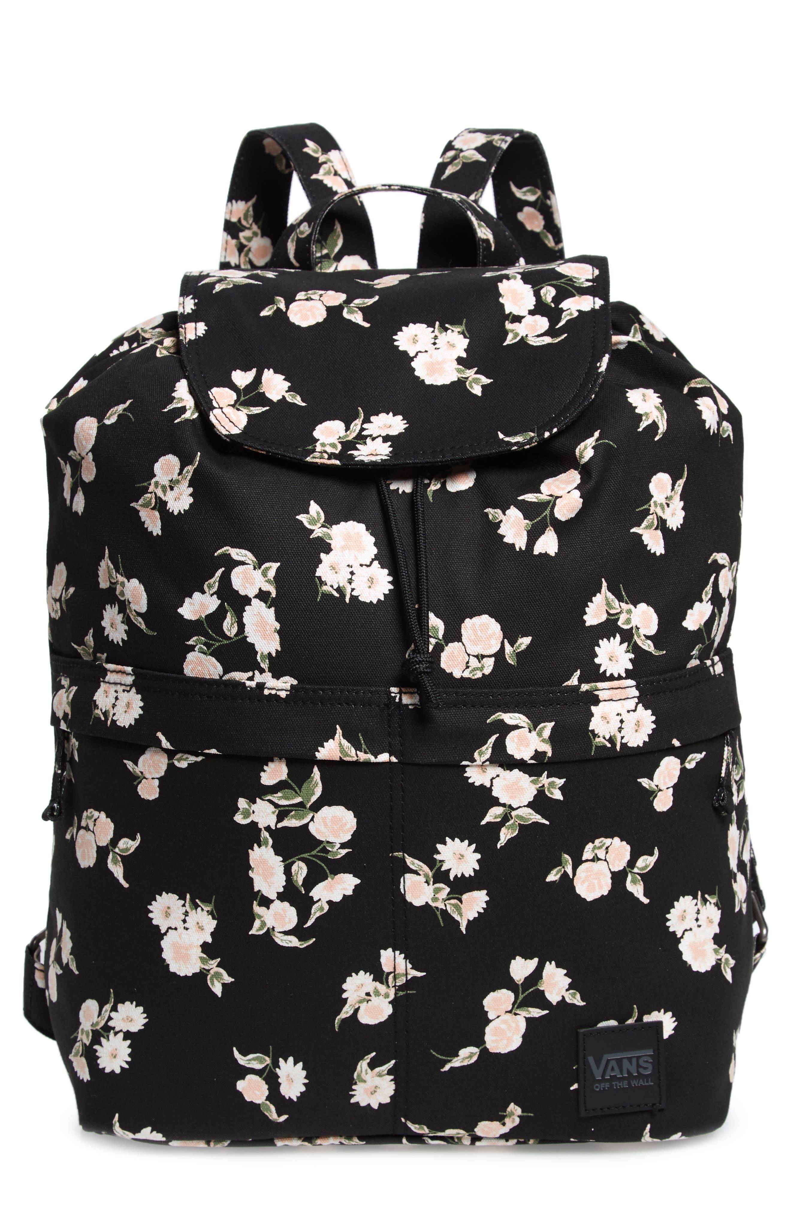 Lakeside Floral Print Backpack,                         Main,                         color, 001