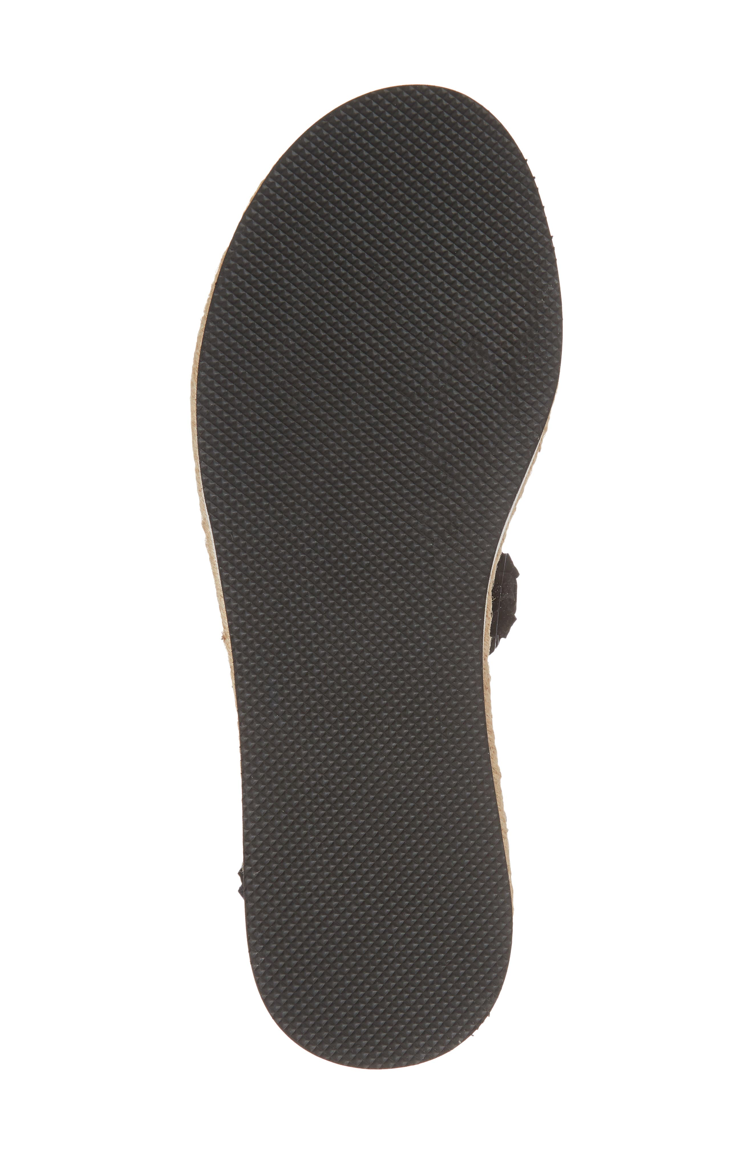 Nieve Braided Platform Sandal,                             Alternate thumbnail 6, color,                             001