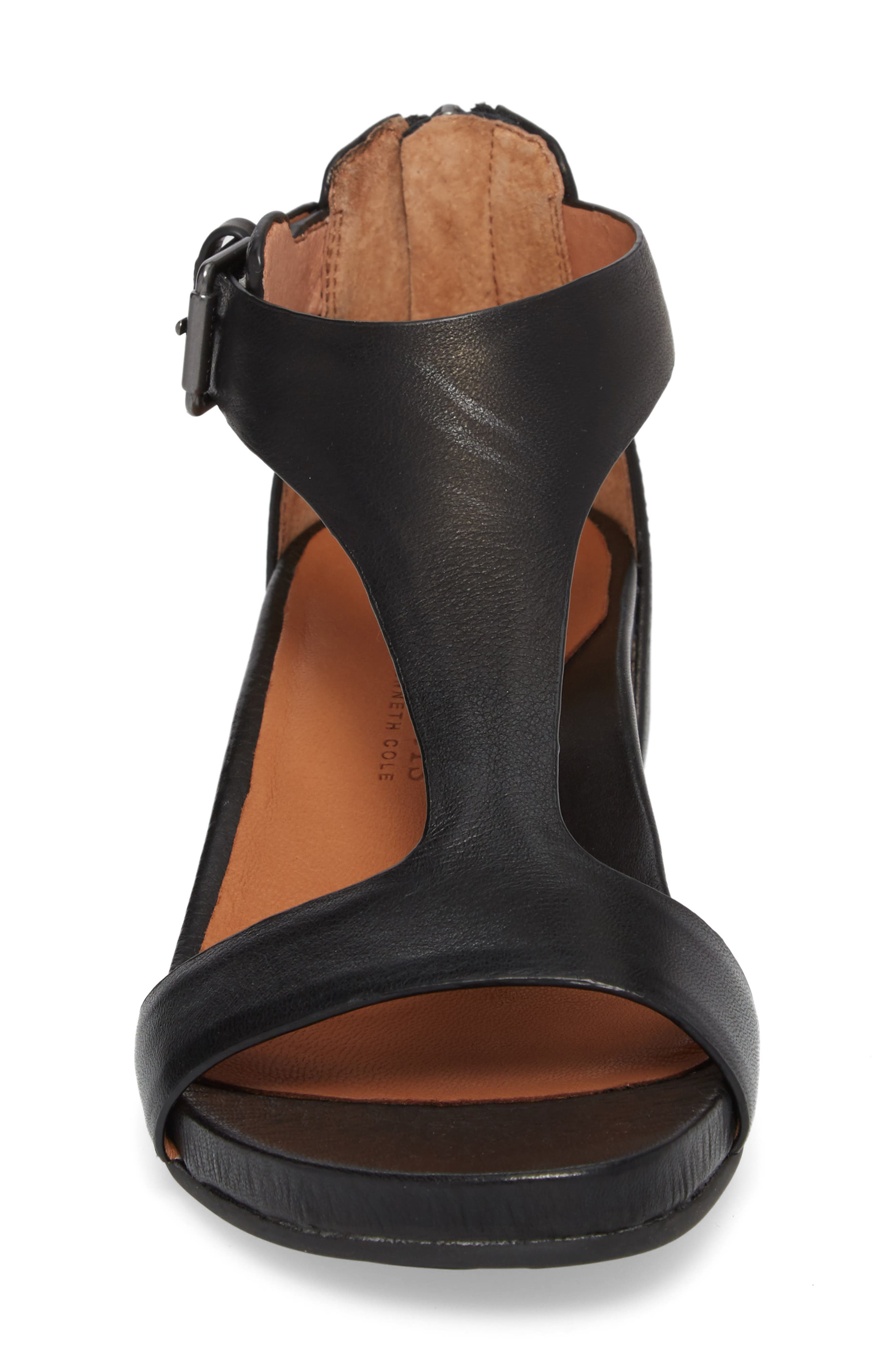 by Kenneth Cole Gisele Wedge Sandal,                             Alternate thumbnail 4, color,                             001