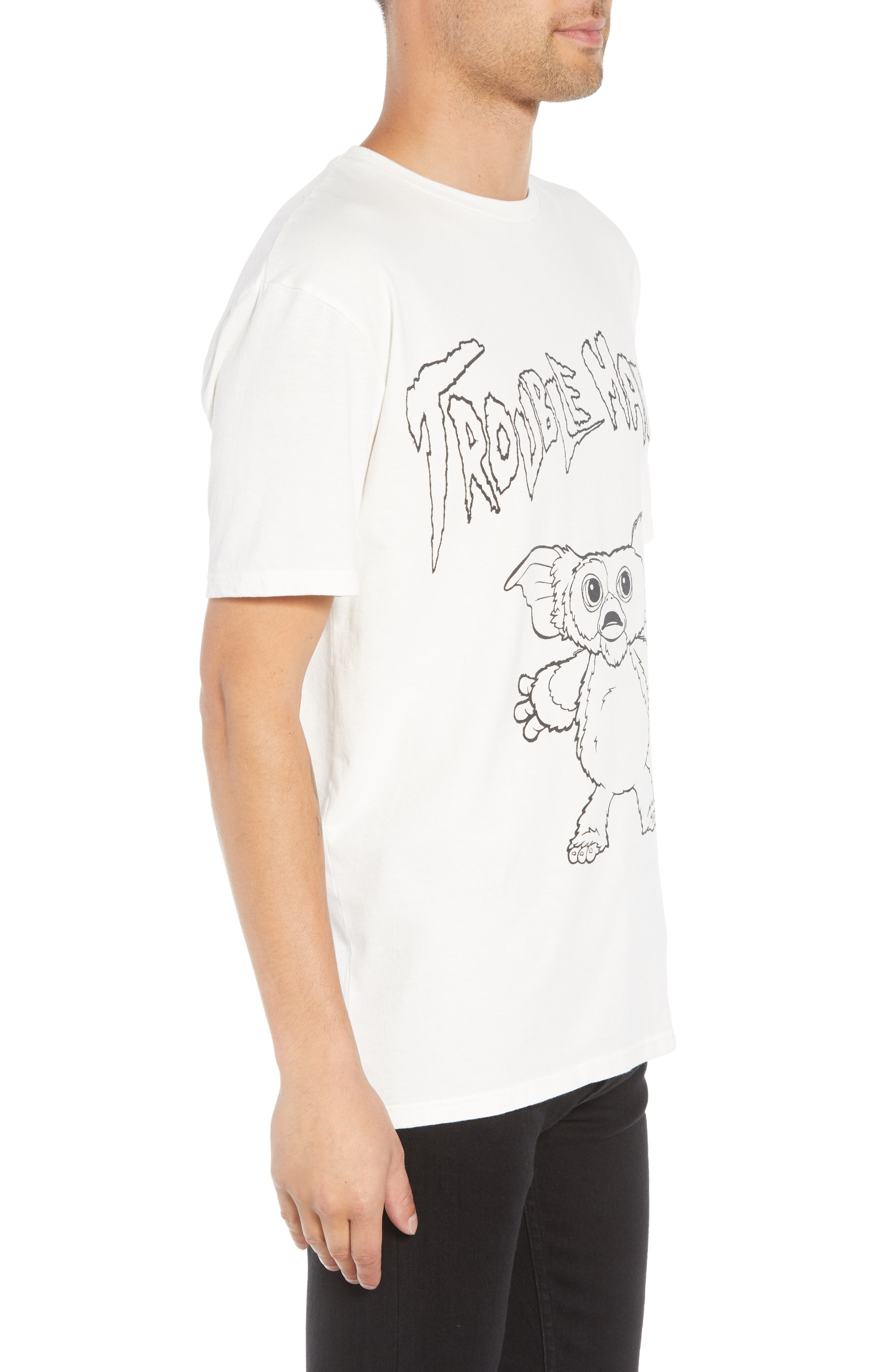 Gizmo Graphic Tee,                             Alternate thumbnail 3, color,                             WHITE