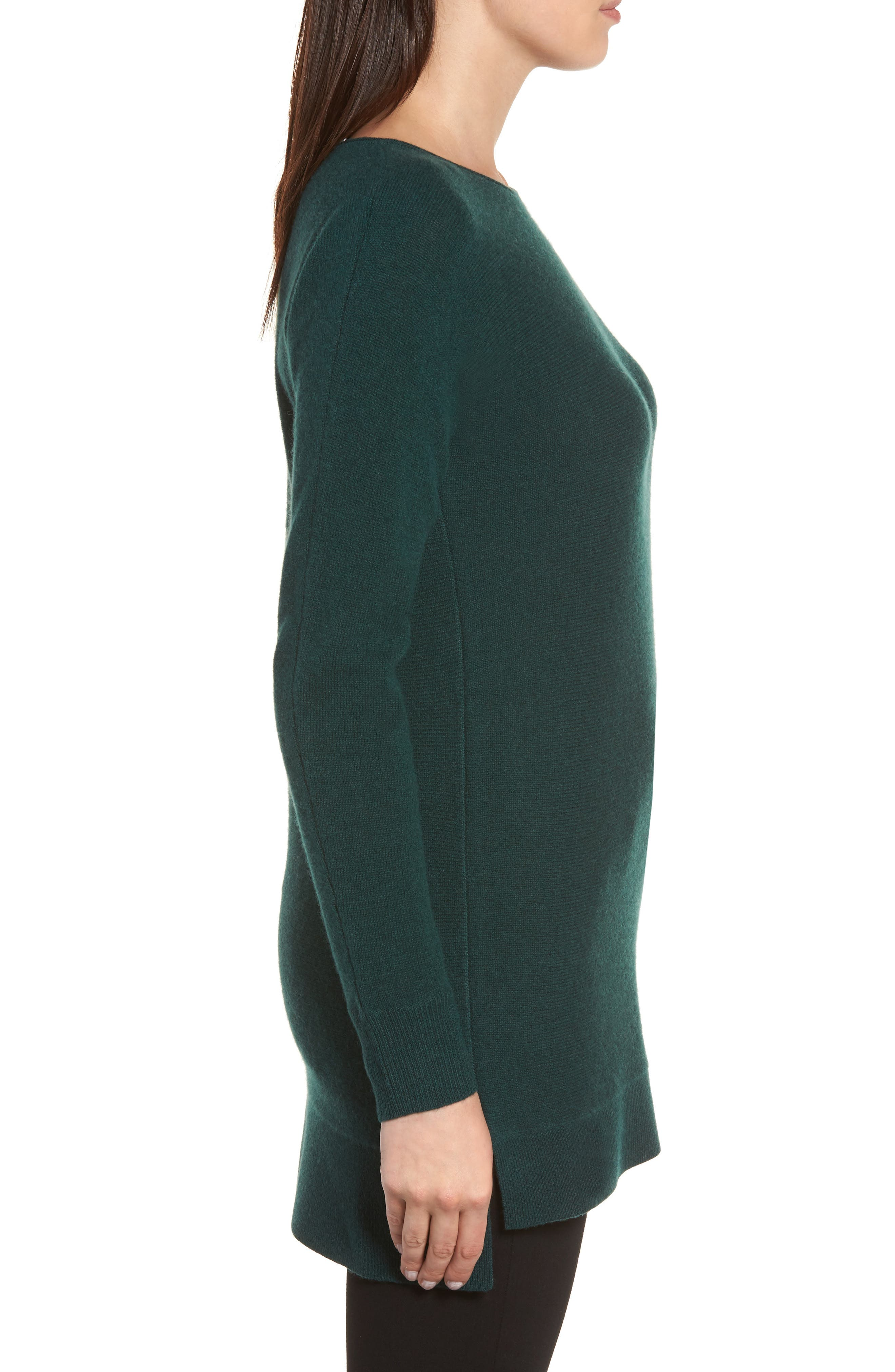 High/Low Wool & Cashmere Tunic Sweater,                             Alternate thumbnail 41, color,