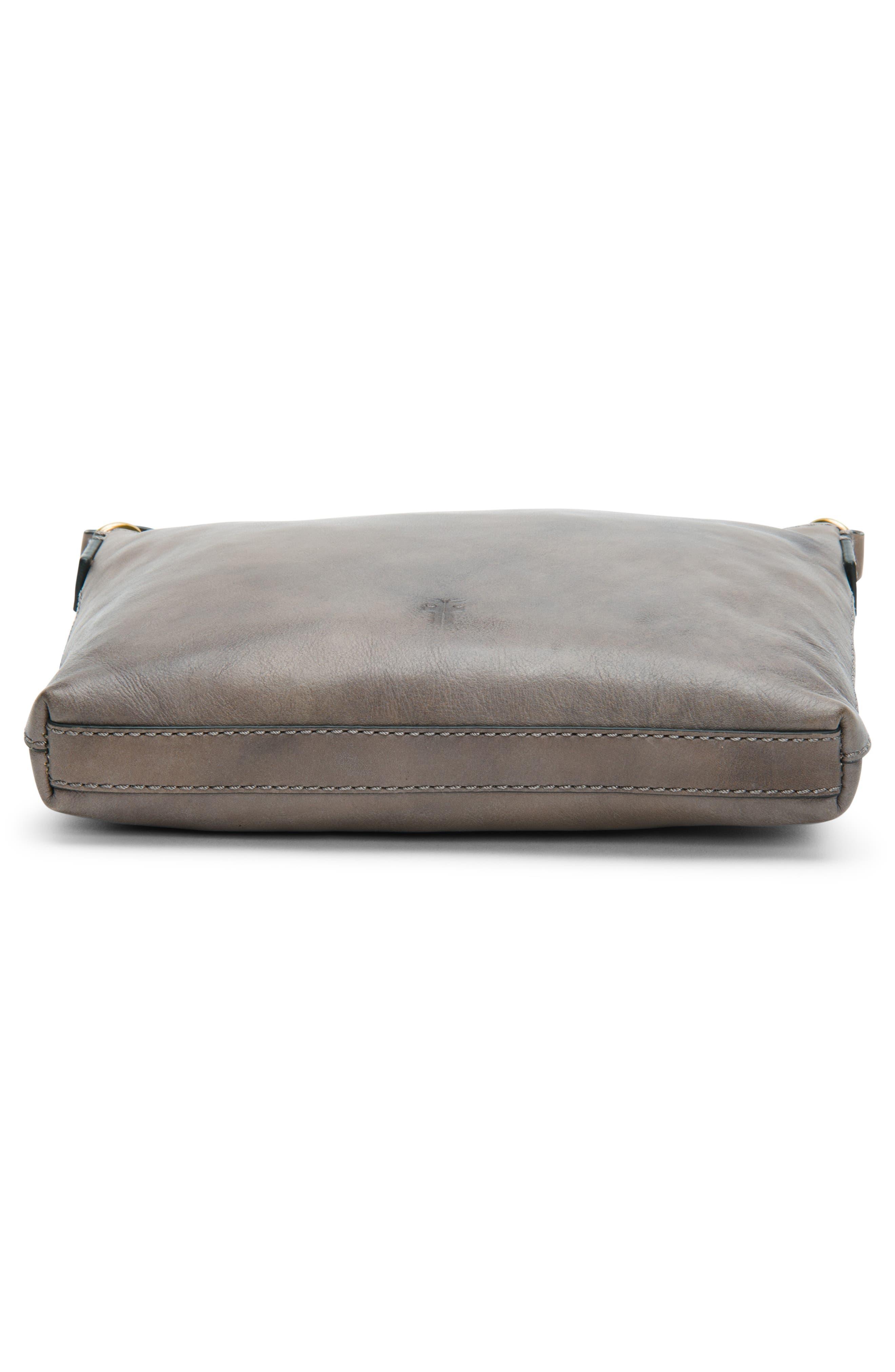 Carson Leather Crossbody Bag,                             Alternate thumbnail 6, color,                             GREY