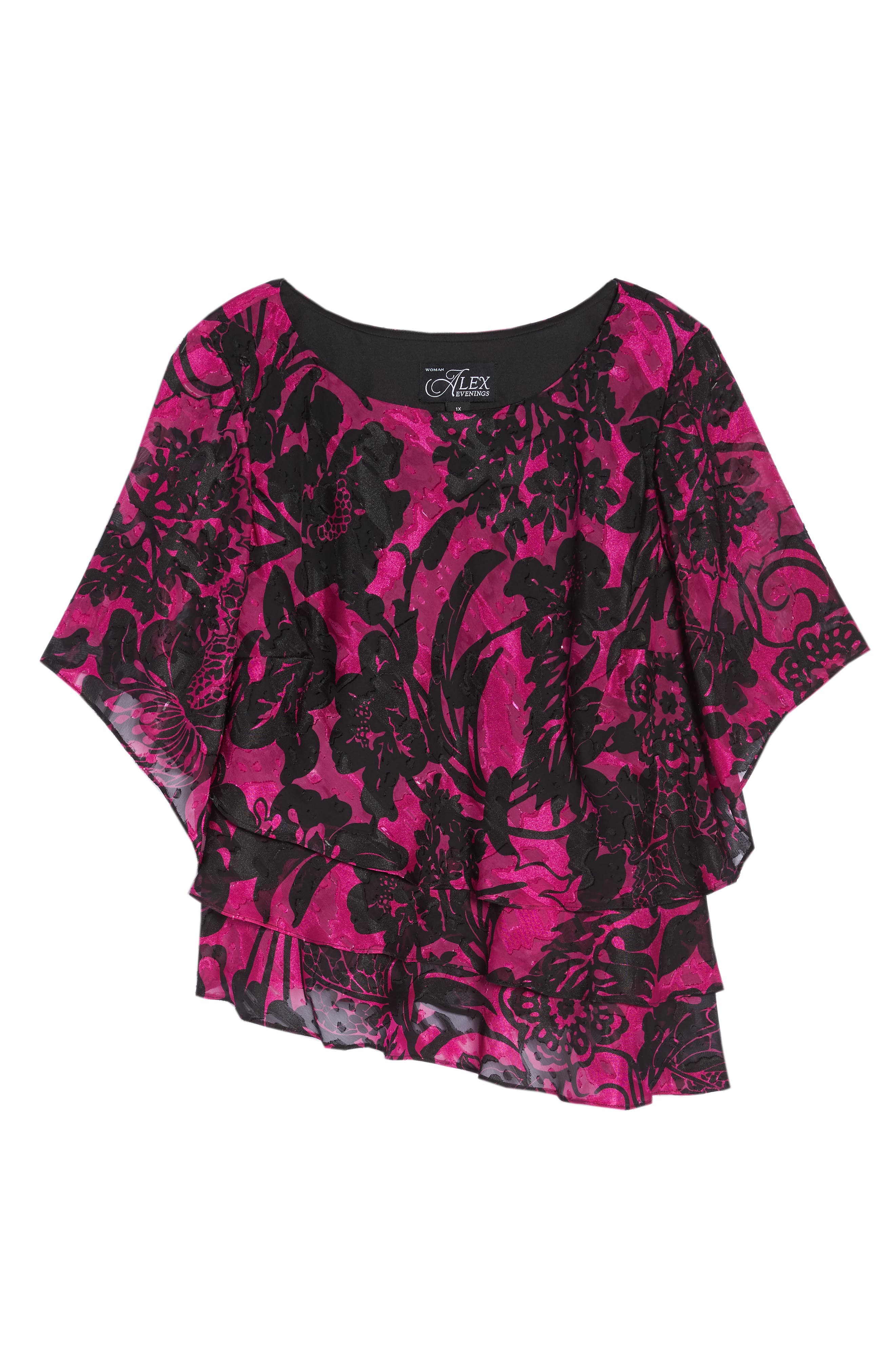 Print Tiered Blouse,                             Alternate thumbnail 12, color,