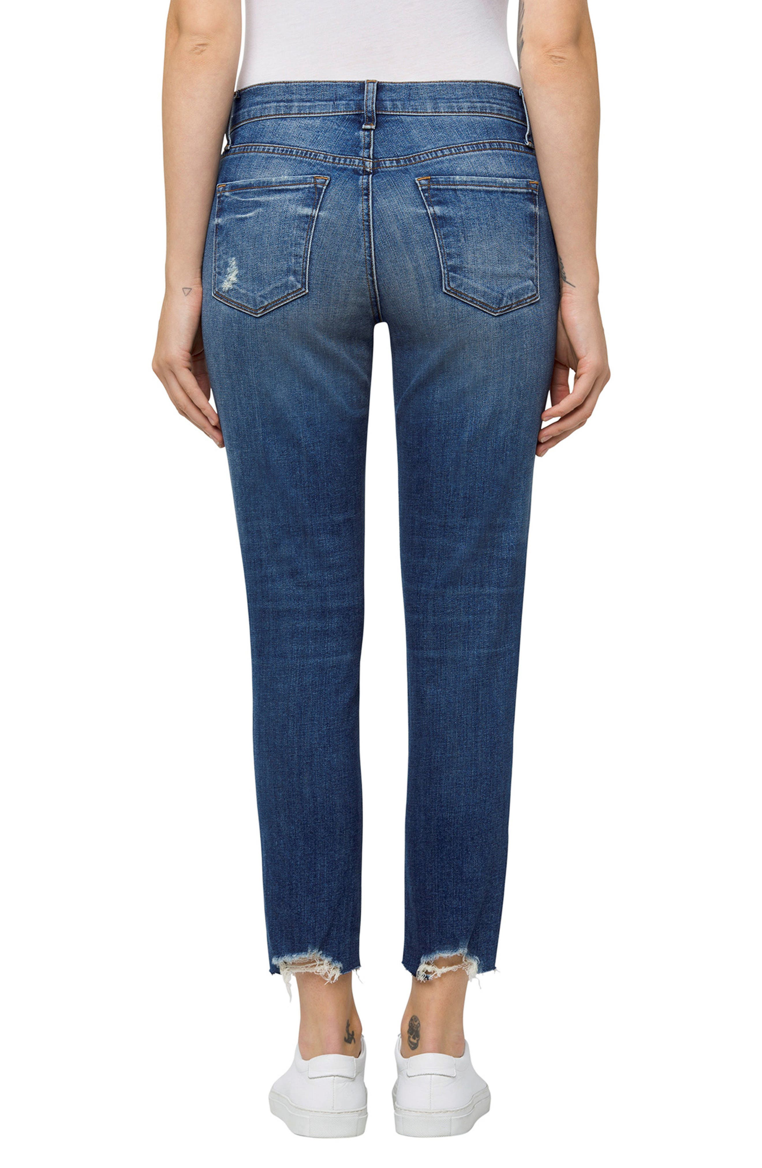 Sadey Crop Slim Straight Leg Jeans,                             Alternate thumbnail 2, color,