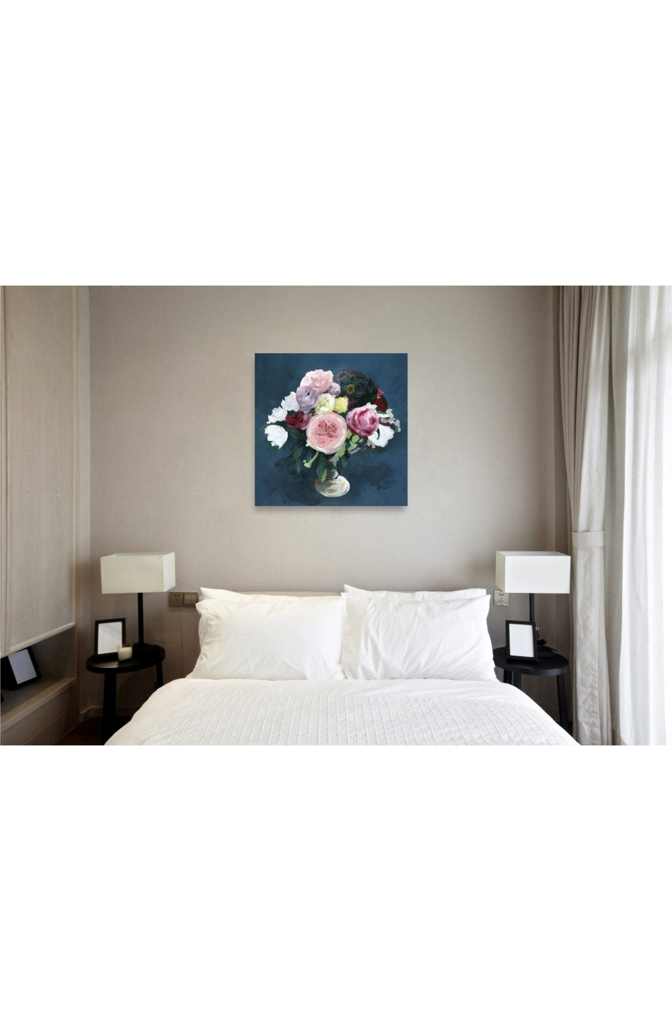 Night Bouquet Canvas Wall Art,                             Alternate thumbnail 2, color,                             BLUE