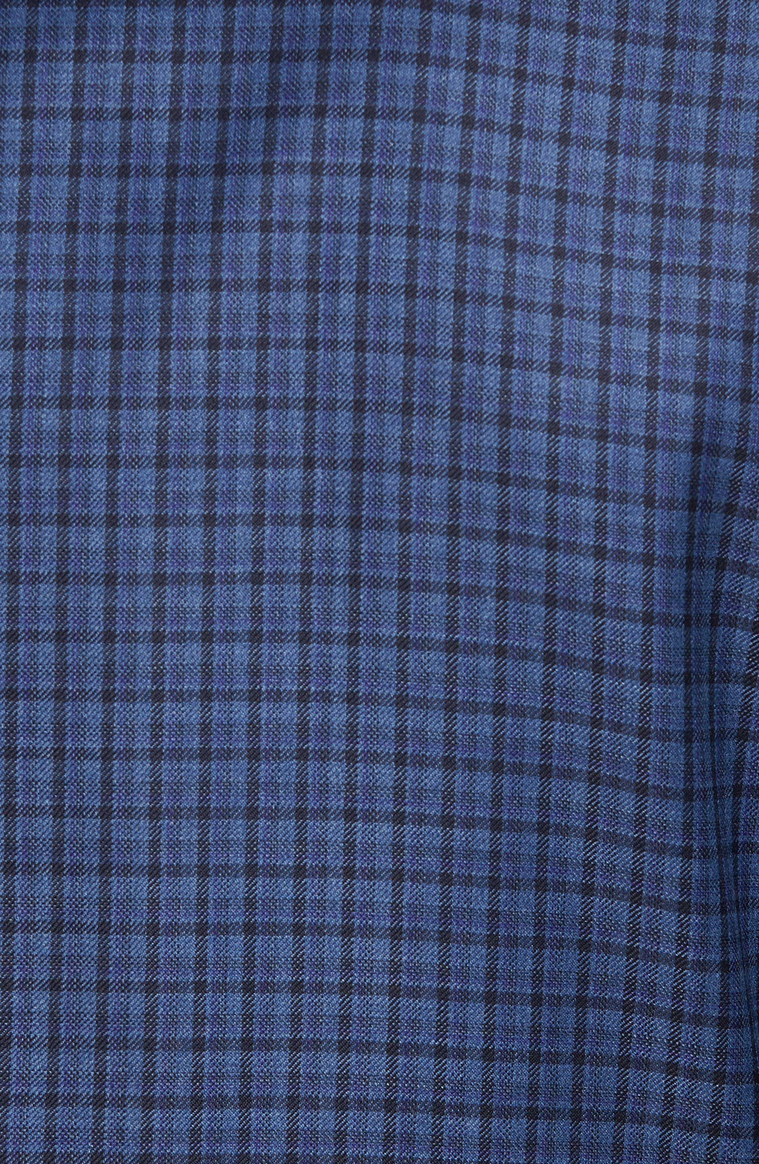 Classic B Fit Check Wool Sport Coat,                             Alternate thumbnail 6, color,                             BLUE PLAID