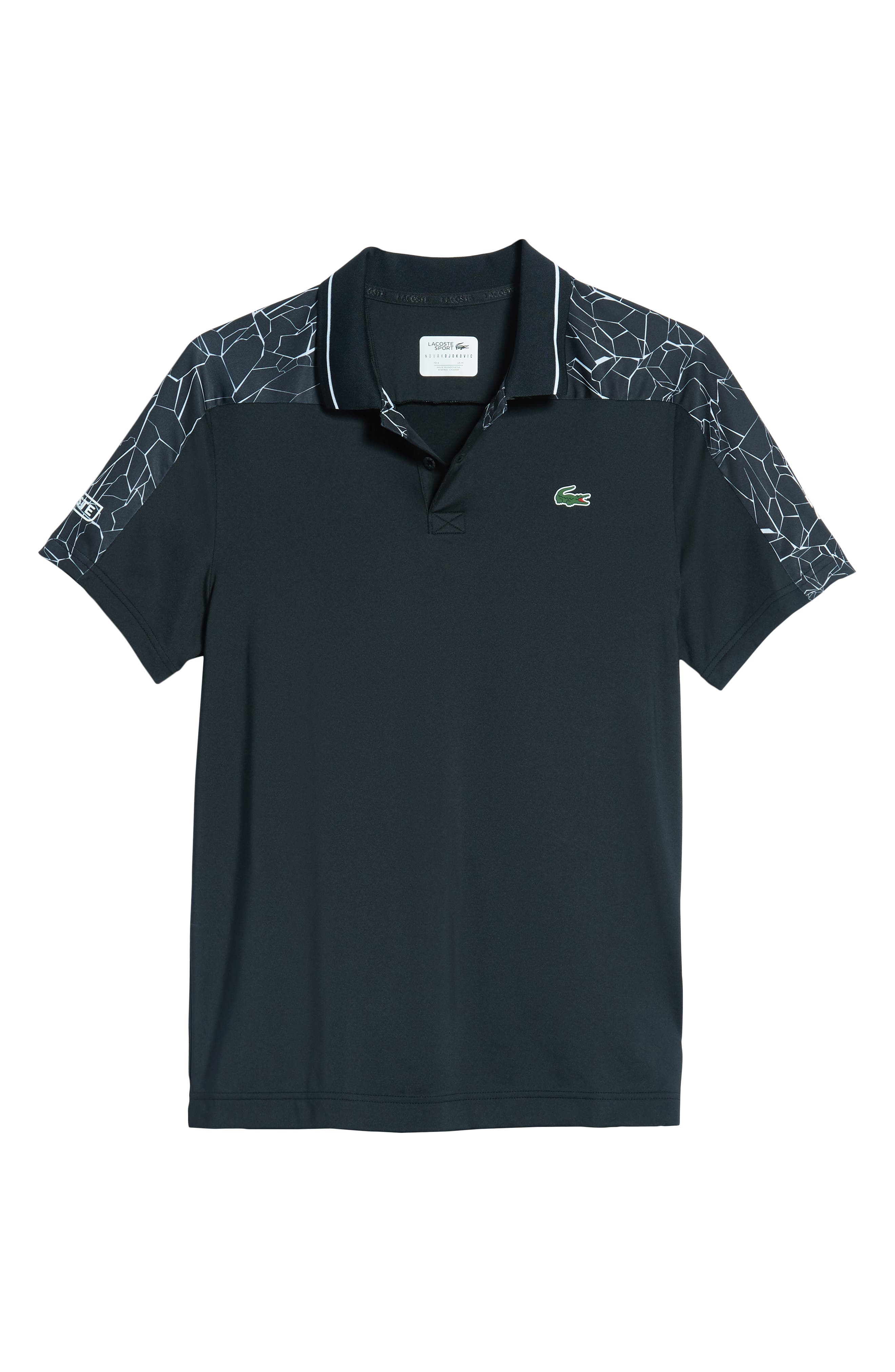 Regular Fit Novak Djokovic Ultra Dry Polo,                             Alternate thumbnail 6, color,                             BLACK/ WHITE