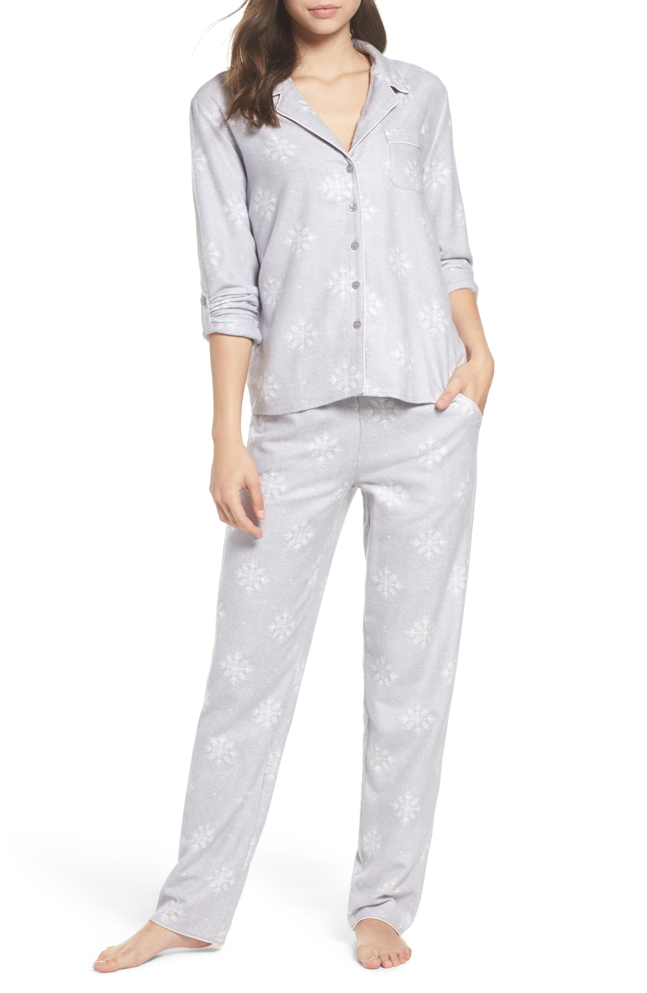 Lingerie Starlight Flannel Pajamas,                             Main thumbnail 1, color,