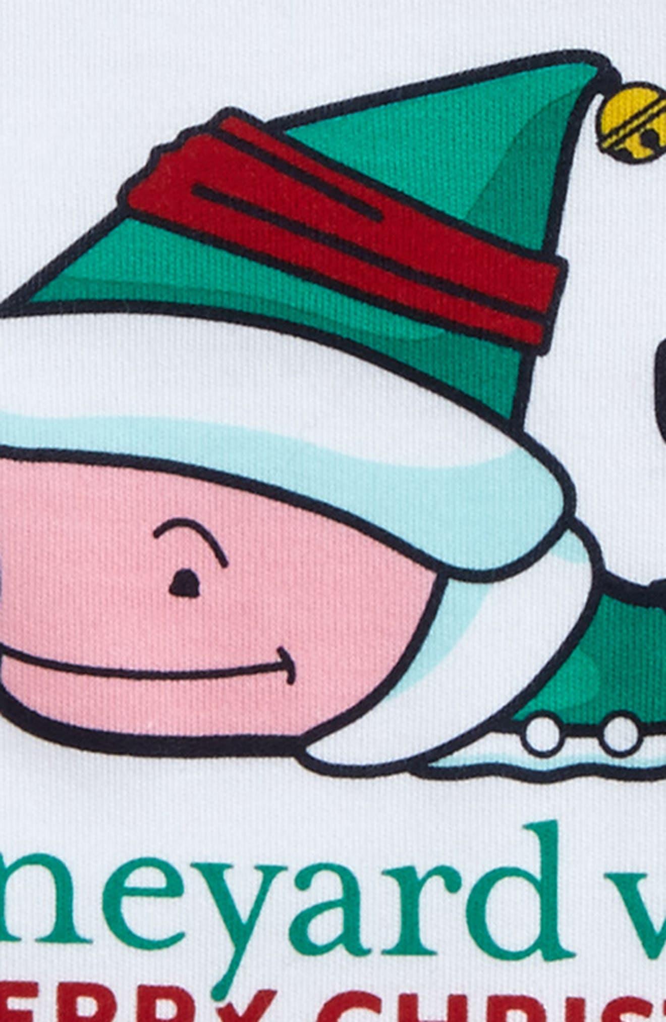 Elf Whale Merry Christmas 2017 Bodysuit,                             Alternate thumbnail 2, color,                             100