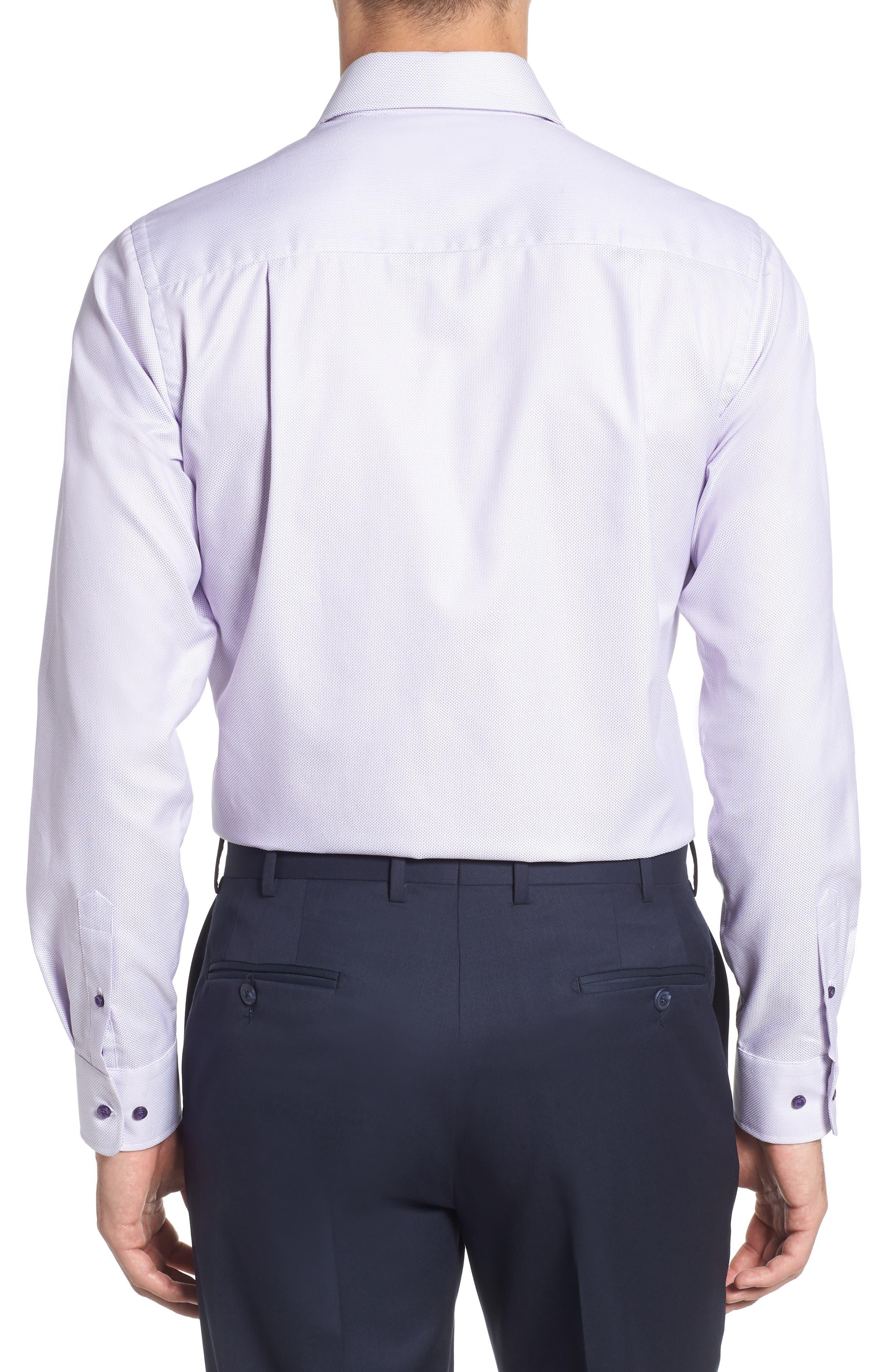 Trim Fit Dress Shirt,                             Alternate thumbnail 3, color,                             LILAC