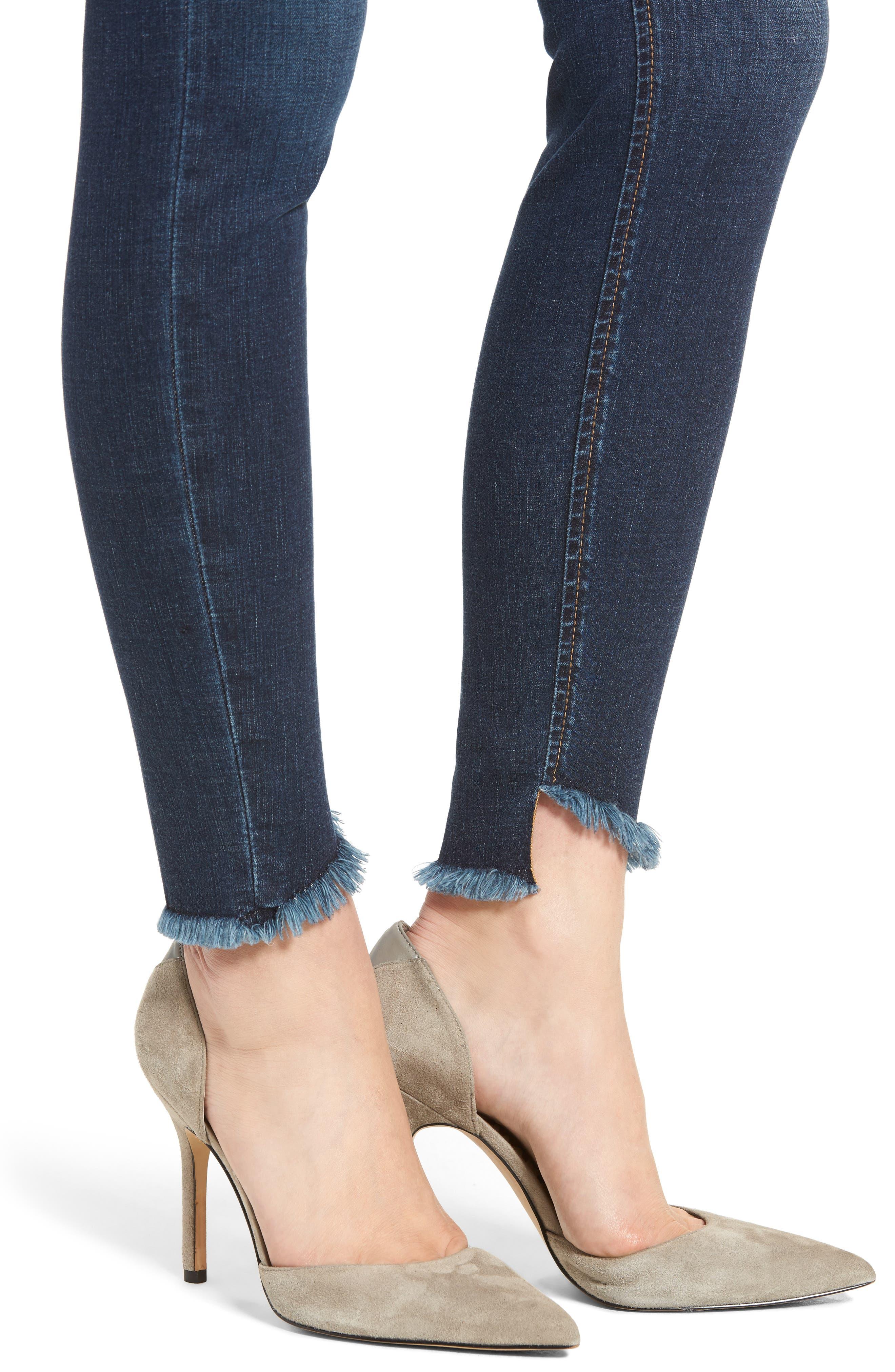 Flawless - Charlie Blondie Hem Jeans,                             Alternate thumbnail 4, color,