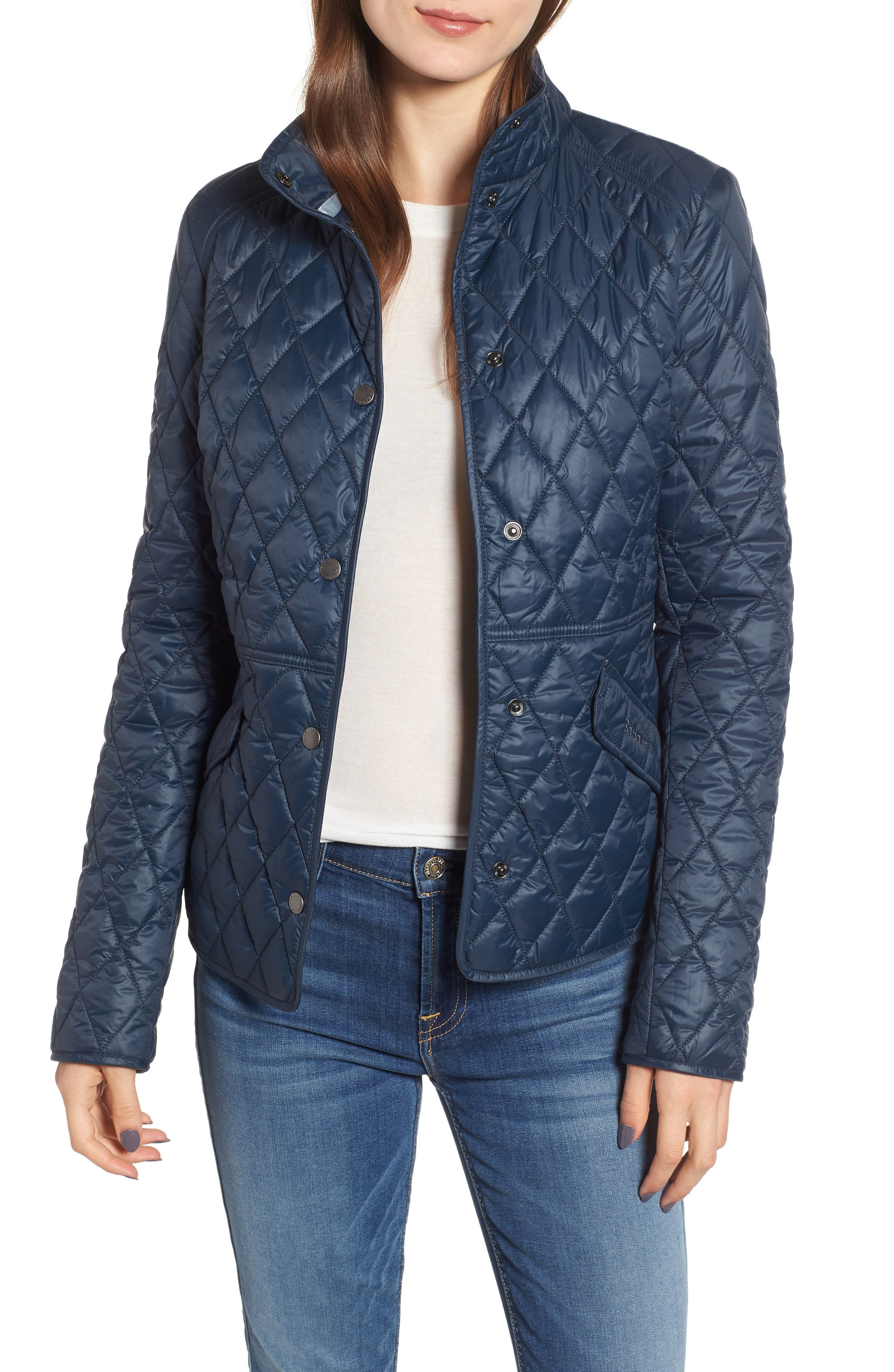 Barbour Annis Quilted Jacket, US / 8 UK - Blue