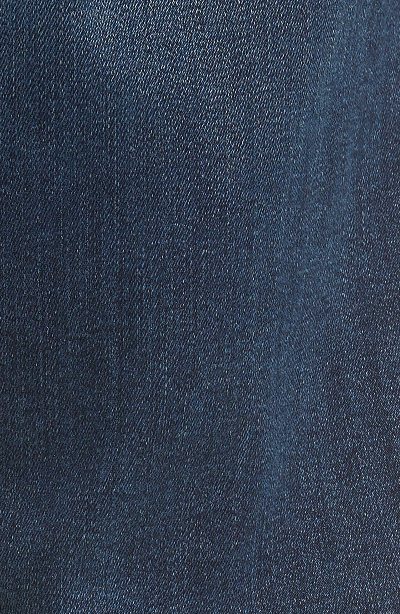 Jimmy Slim Straight Leg Jeans,                             Alternate thumbnail 5, color,                             ATLAS BLUE
