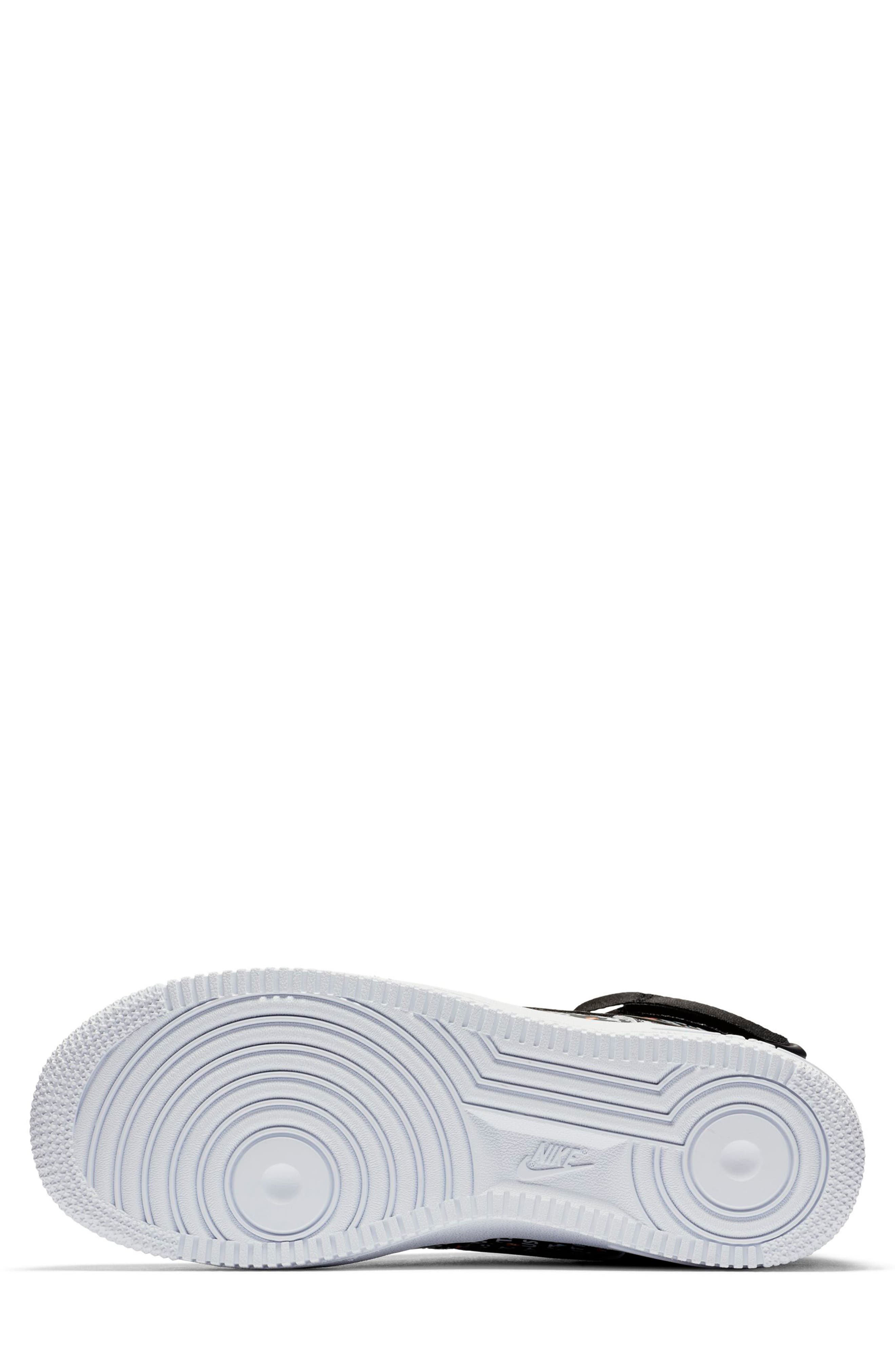 Air Force 1 High LX High Top Sneaker,                             Alternate thumbnail 5, color,                             BLACK