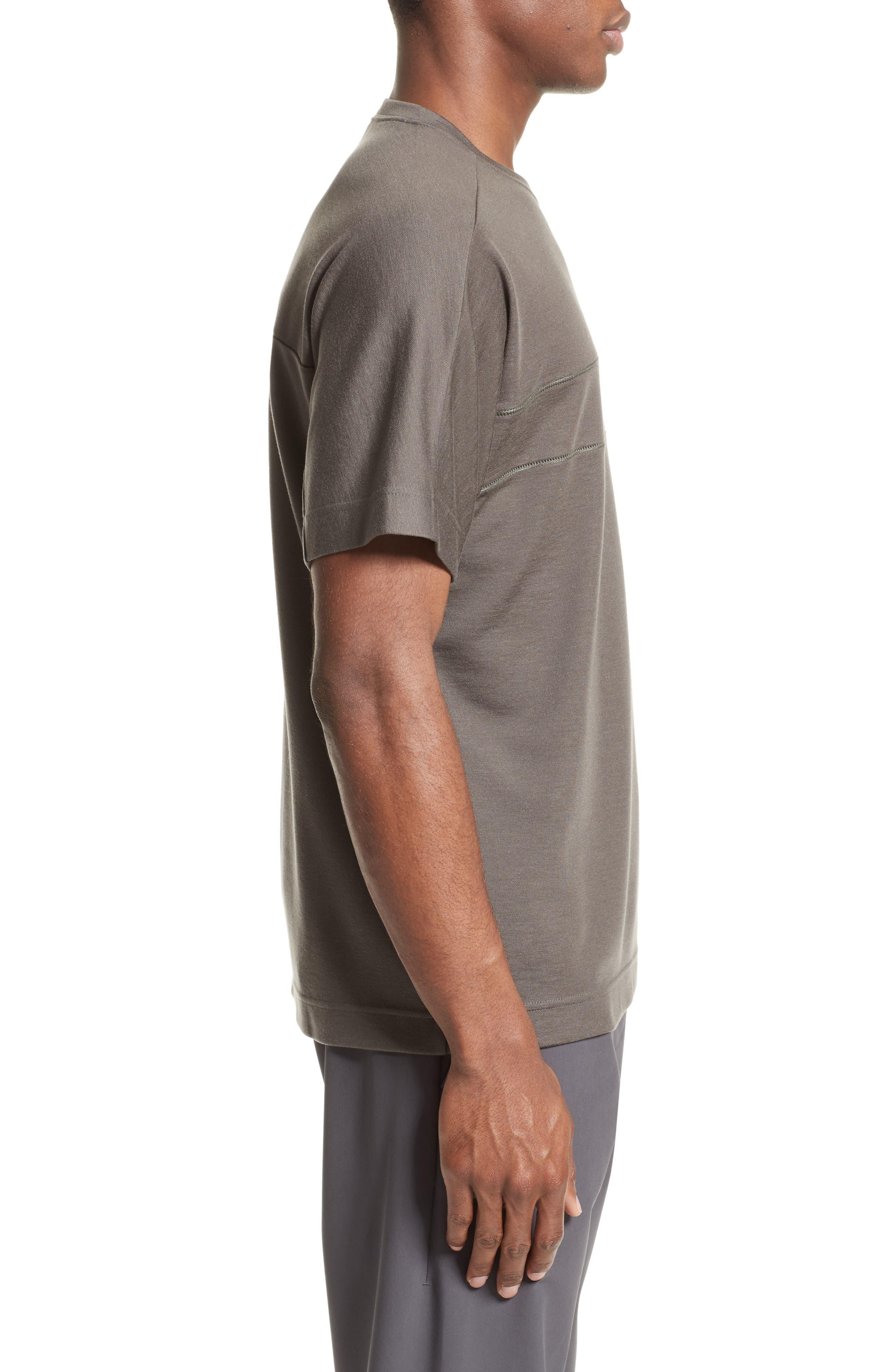 Crewneck T-Shirt,                             Alternate thumbnail 3, color,                             036
