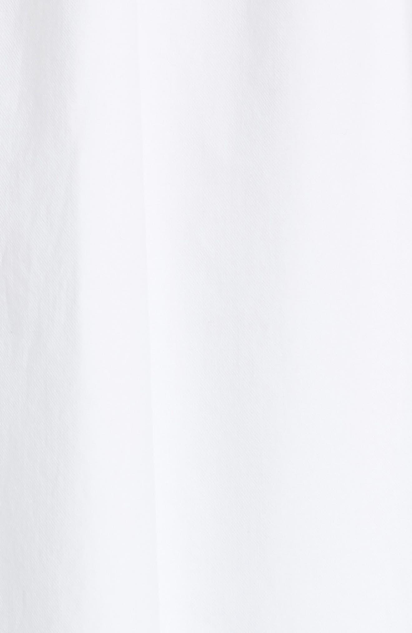 Ilona Lace-Up Cotton Top,                             Alternate thumbnail 5, color,                             100