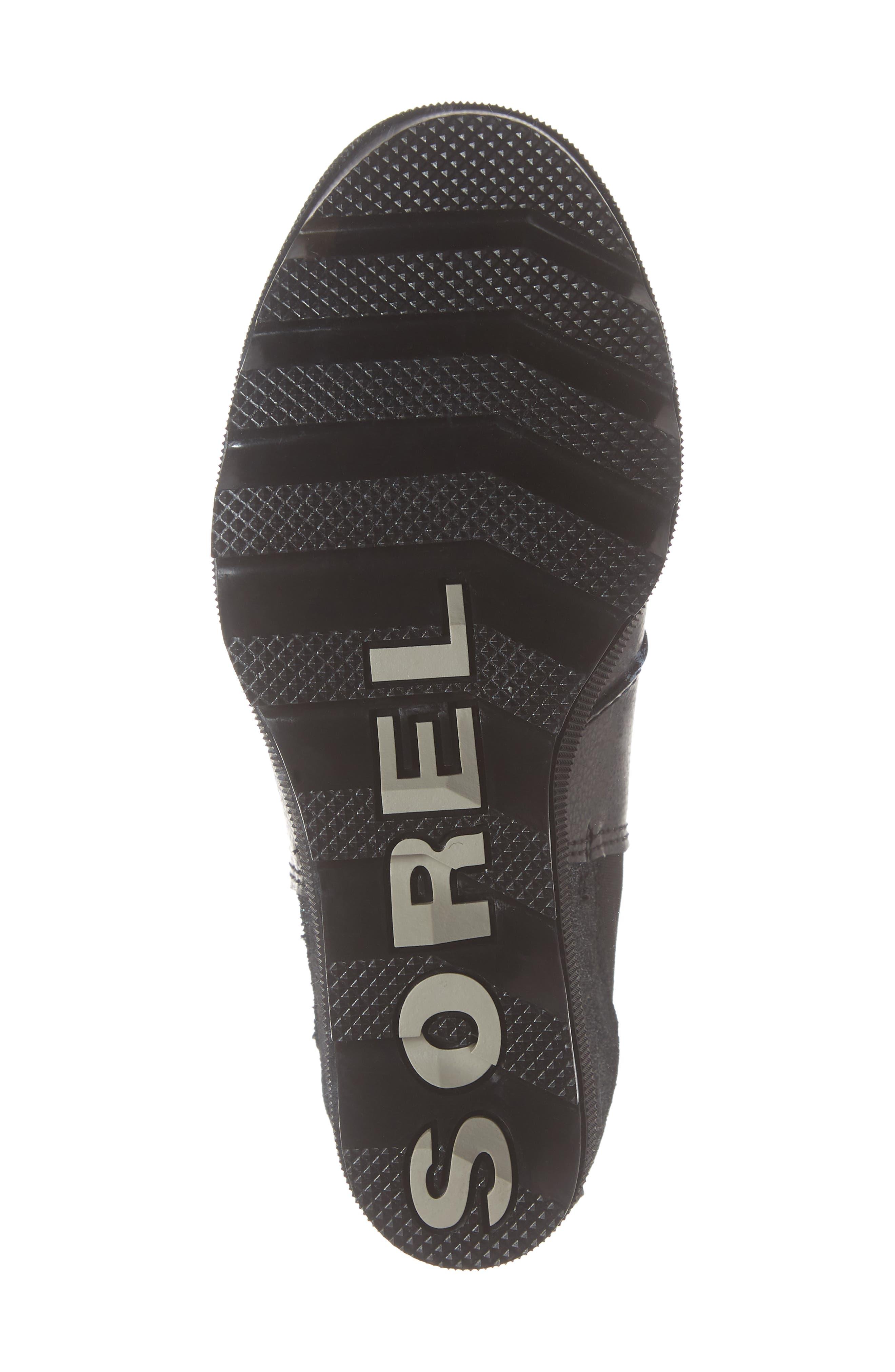 Joan of Arc II Waterproof Wedge Chelsea Boot,                             Alternate thumbnail 6, color,                             BLACK