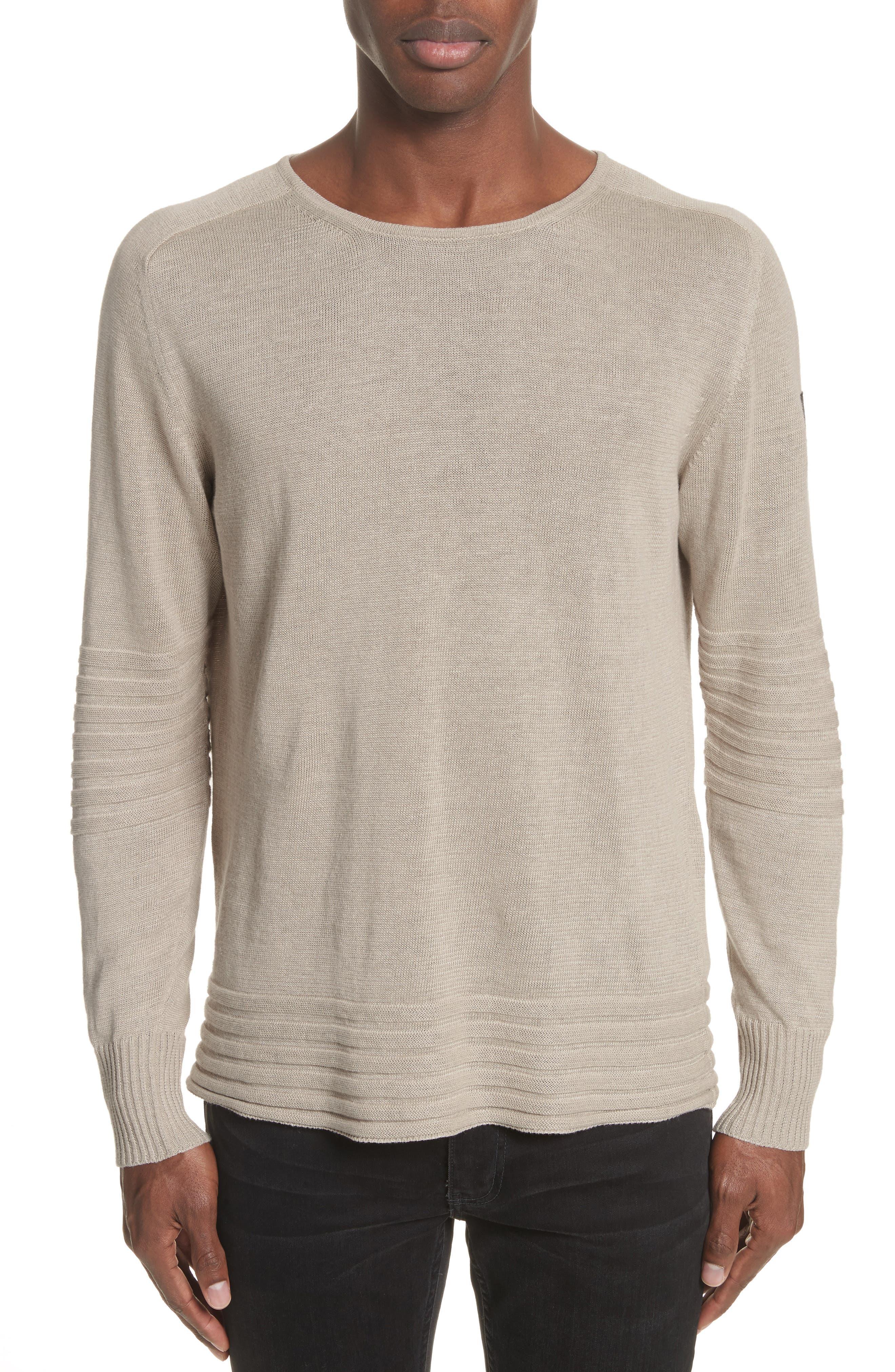 Exford Linen Crewneck Sweater,                             Alternate thumbnail 7, color,
