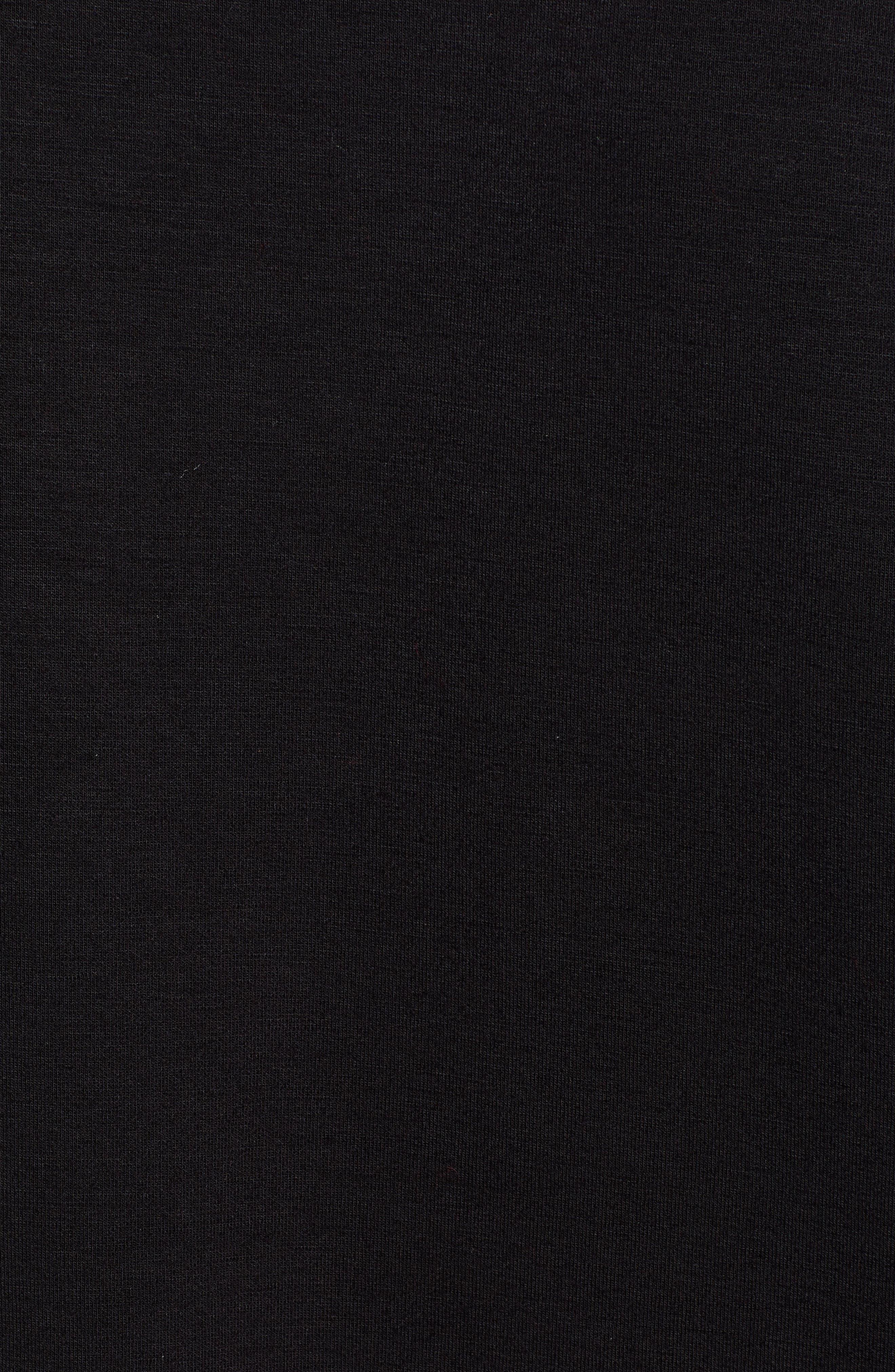 Funnel Neck Sweatshirt,                             Alternate thumbnail 5, color,                             001