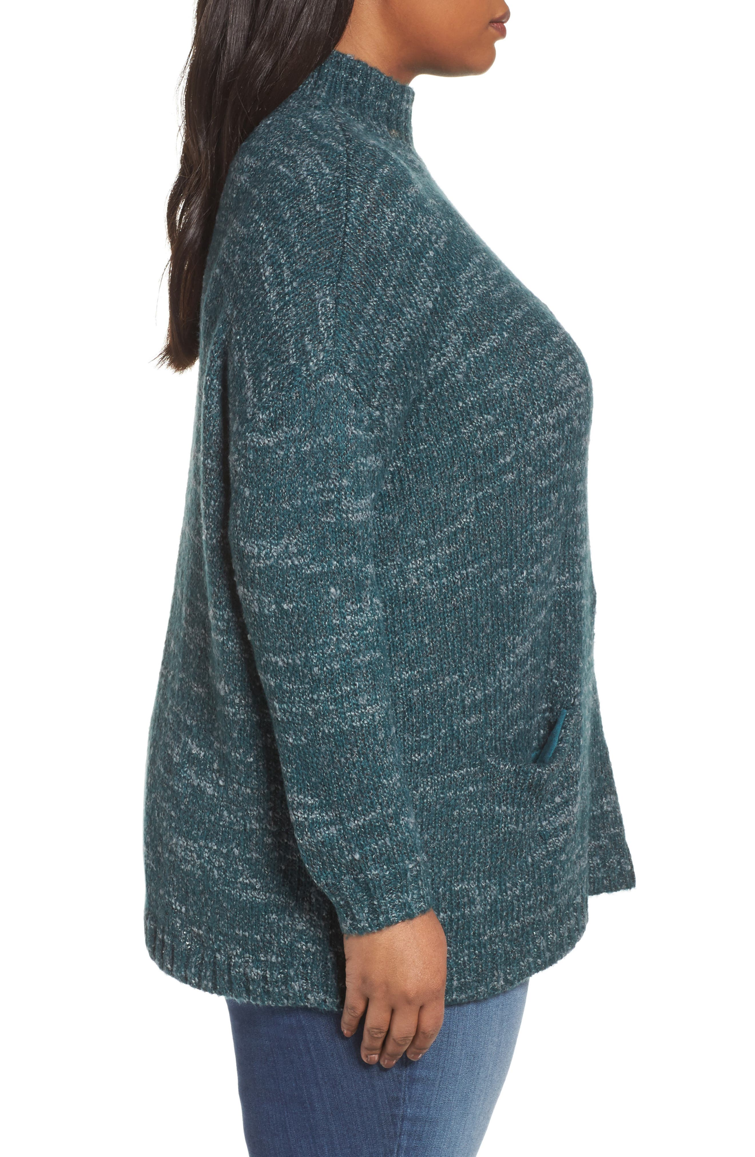 Mock Neck Knit Sweater,                             Alternate thumbnail 8, color,