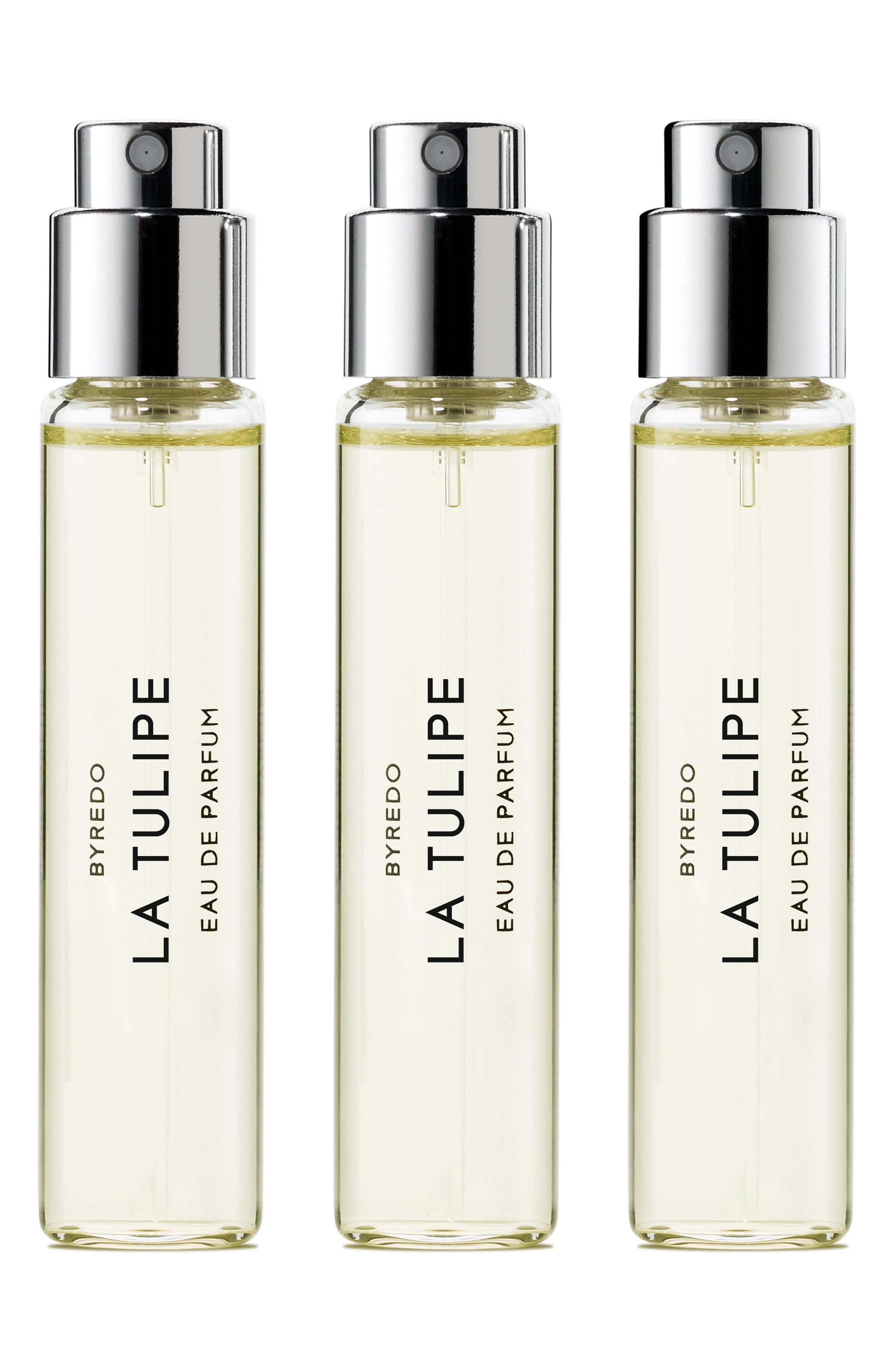 La Tulipe Eau de Parfum Travel Spray Trio,                             Main thumbnail 1, color,                             000