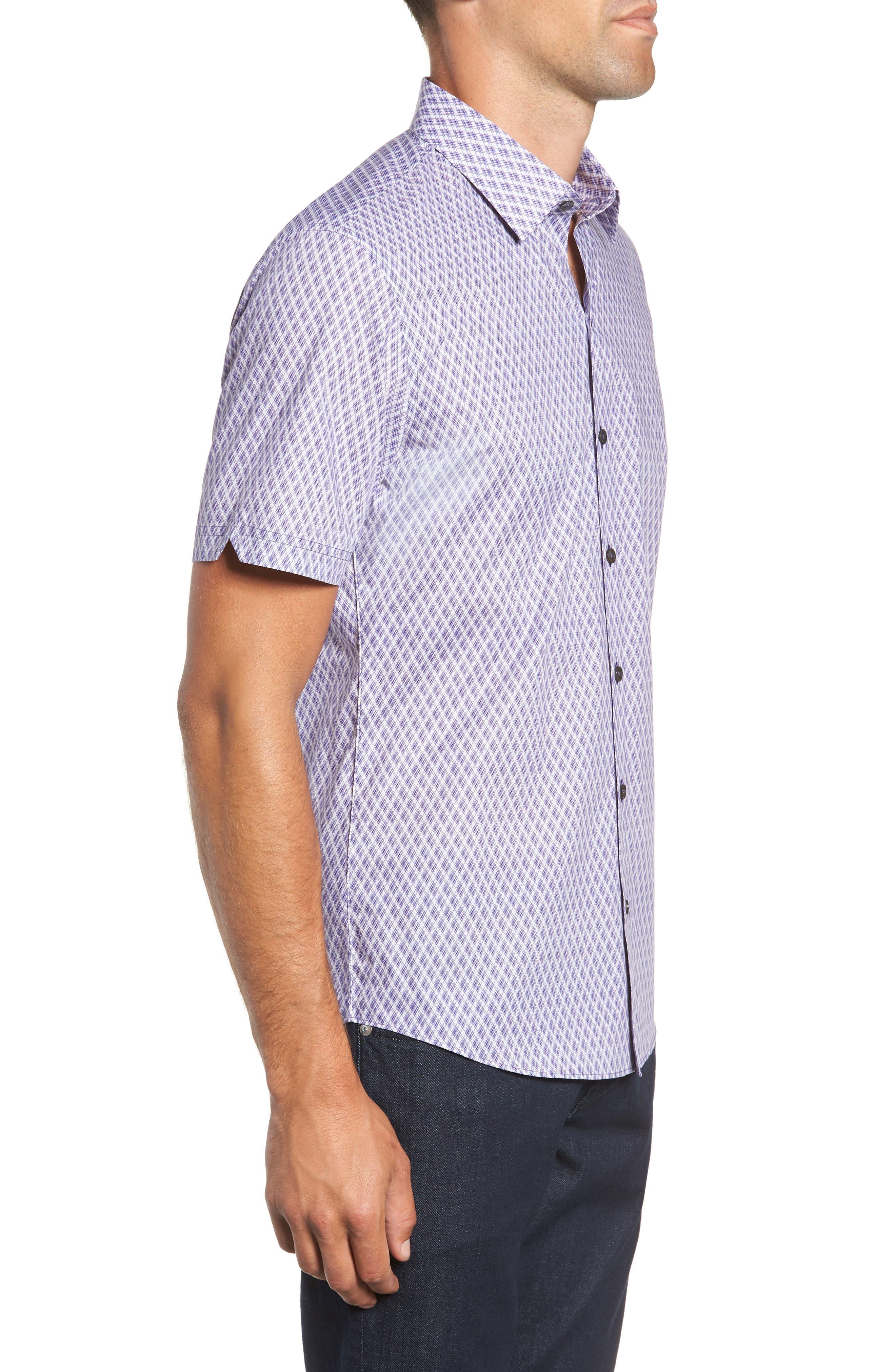 Madorin Regular Fit Sport Shirt,                             Alternate thumbnail 4, color,                             PURPLE