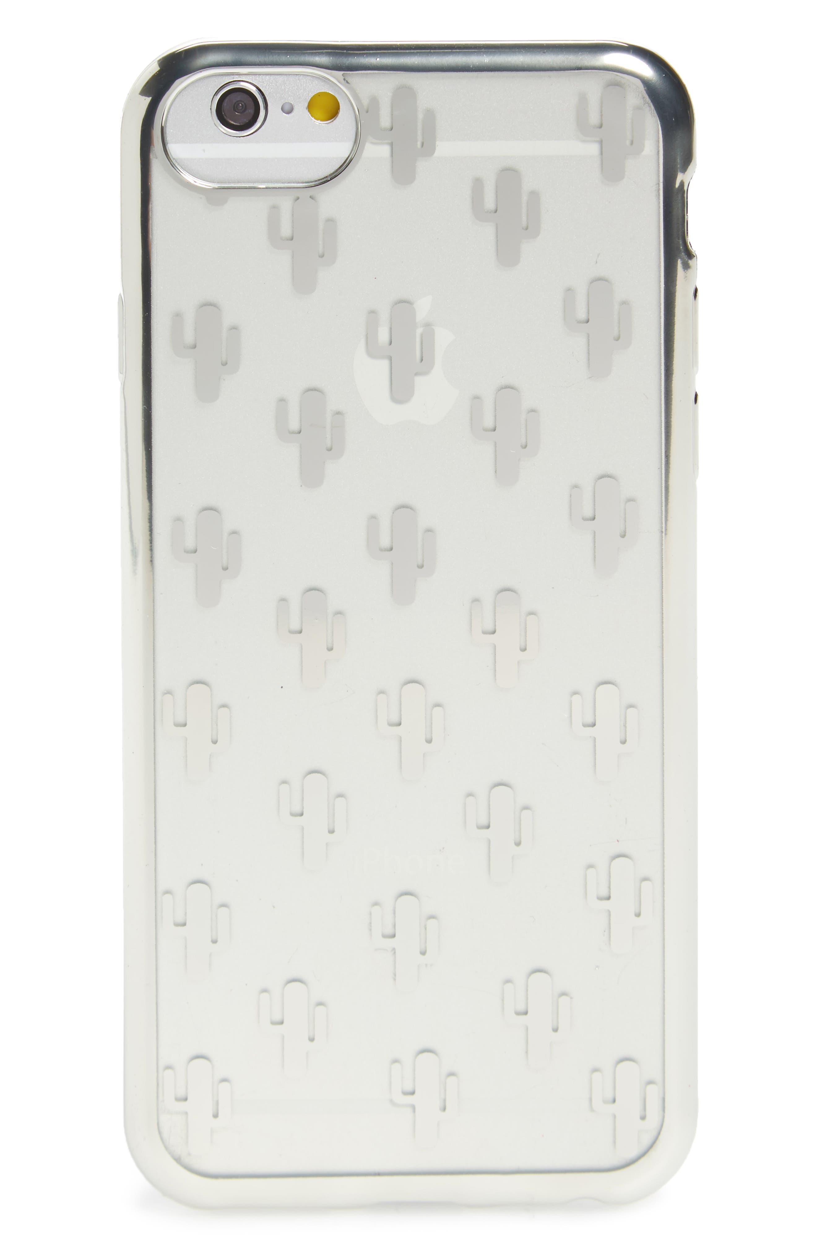 Transparent Cactus iPhone 6/6s/7 Case,                             Main thumbnail 1, color,