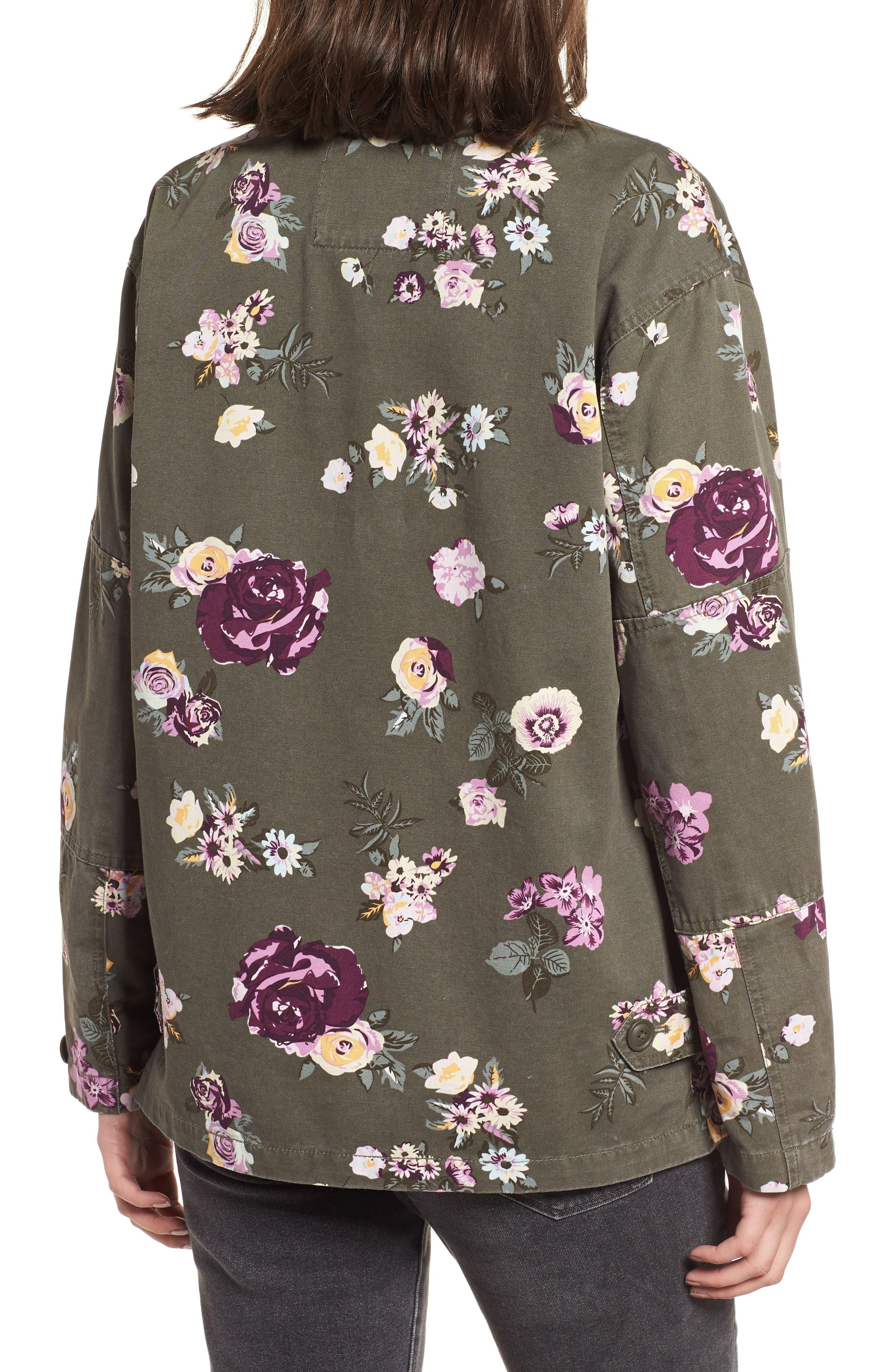 Oversize Cotton Canvas Camo Shirt Jacket,                             Alternate thumbnail 2, color,                             303