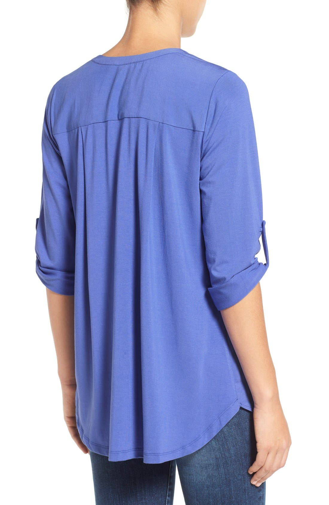 Mixed Media V-Neck Tunic,                             Alternate thumbnail 87, color,