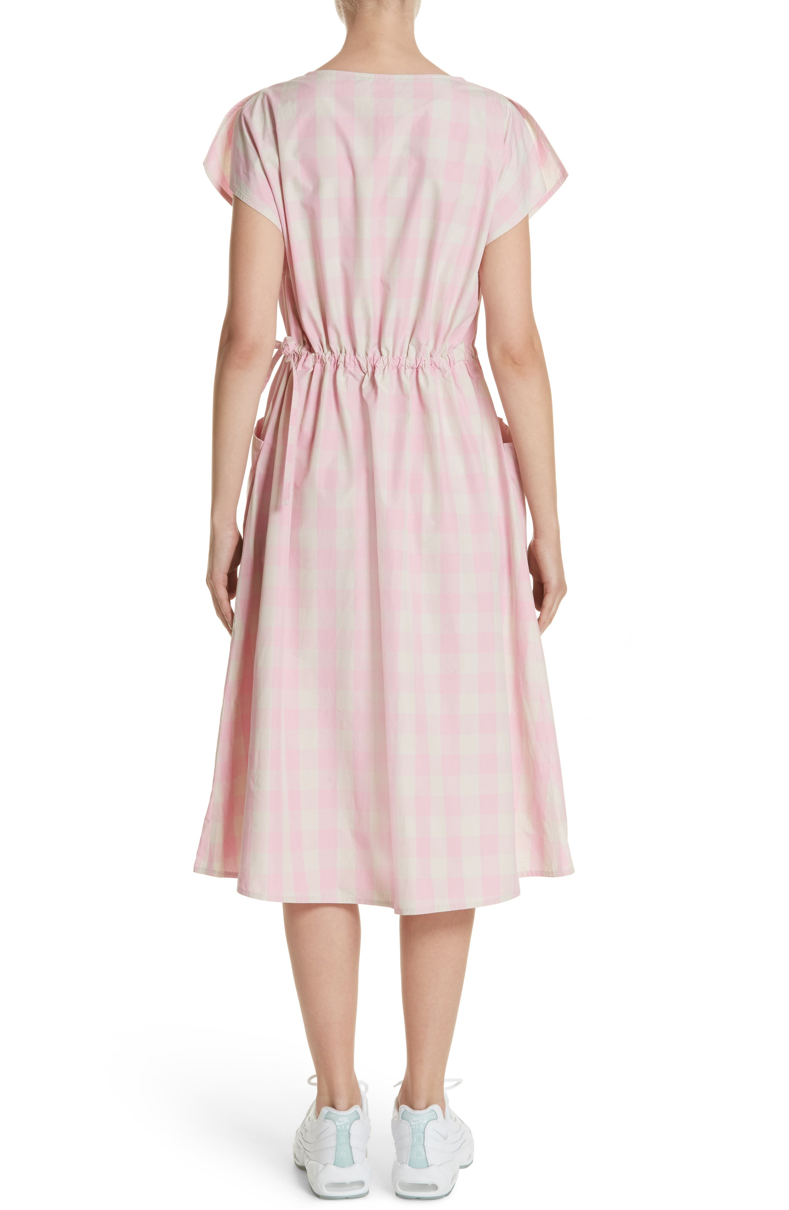 Gathered Waist Gingham Dress,                             Alternate thumbnail 2, color,                             650