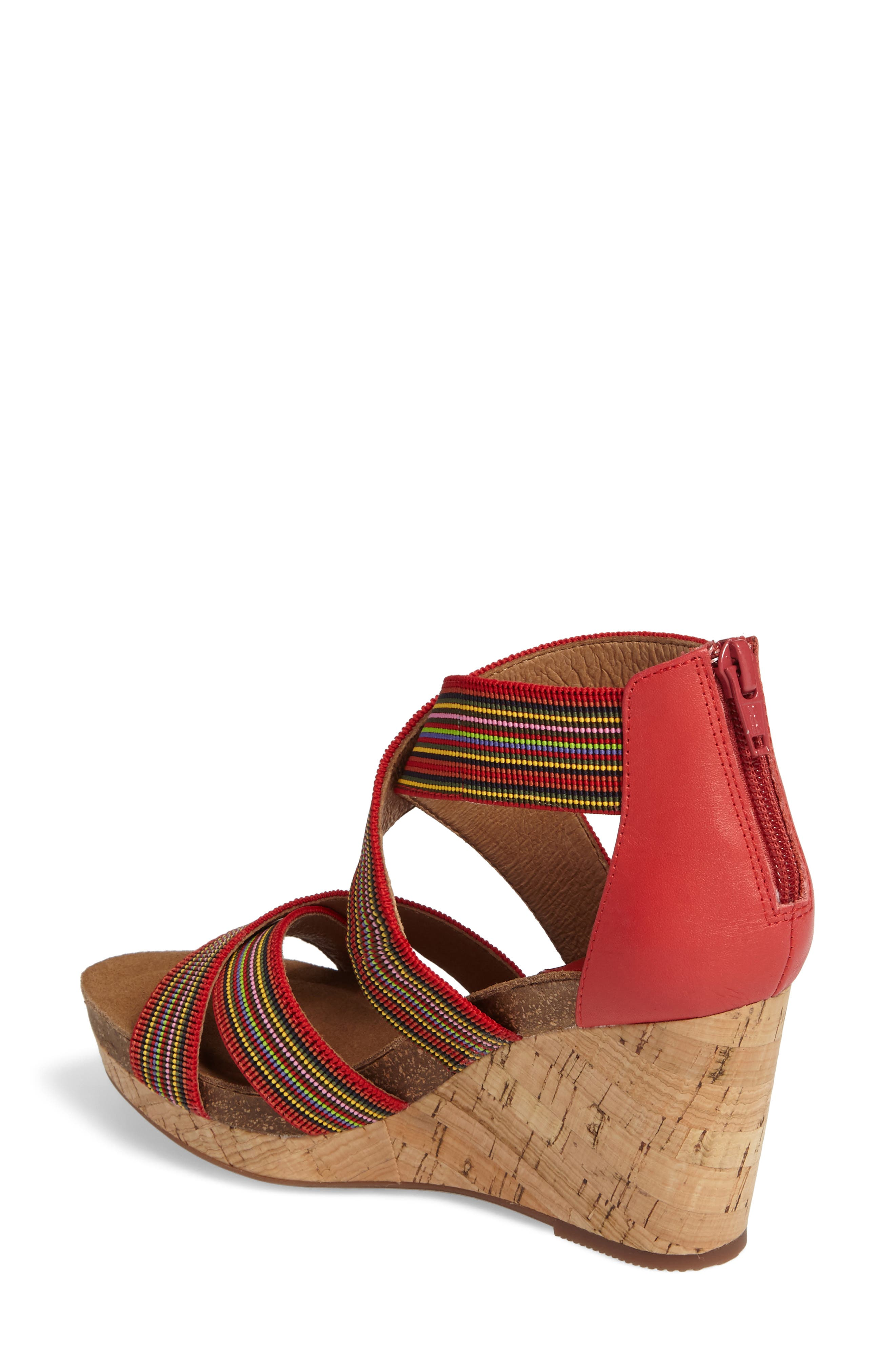 Cary Cross Strap Wedge Sandal,                             Alternate thumbnail 6, color,