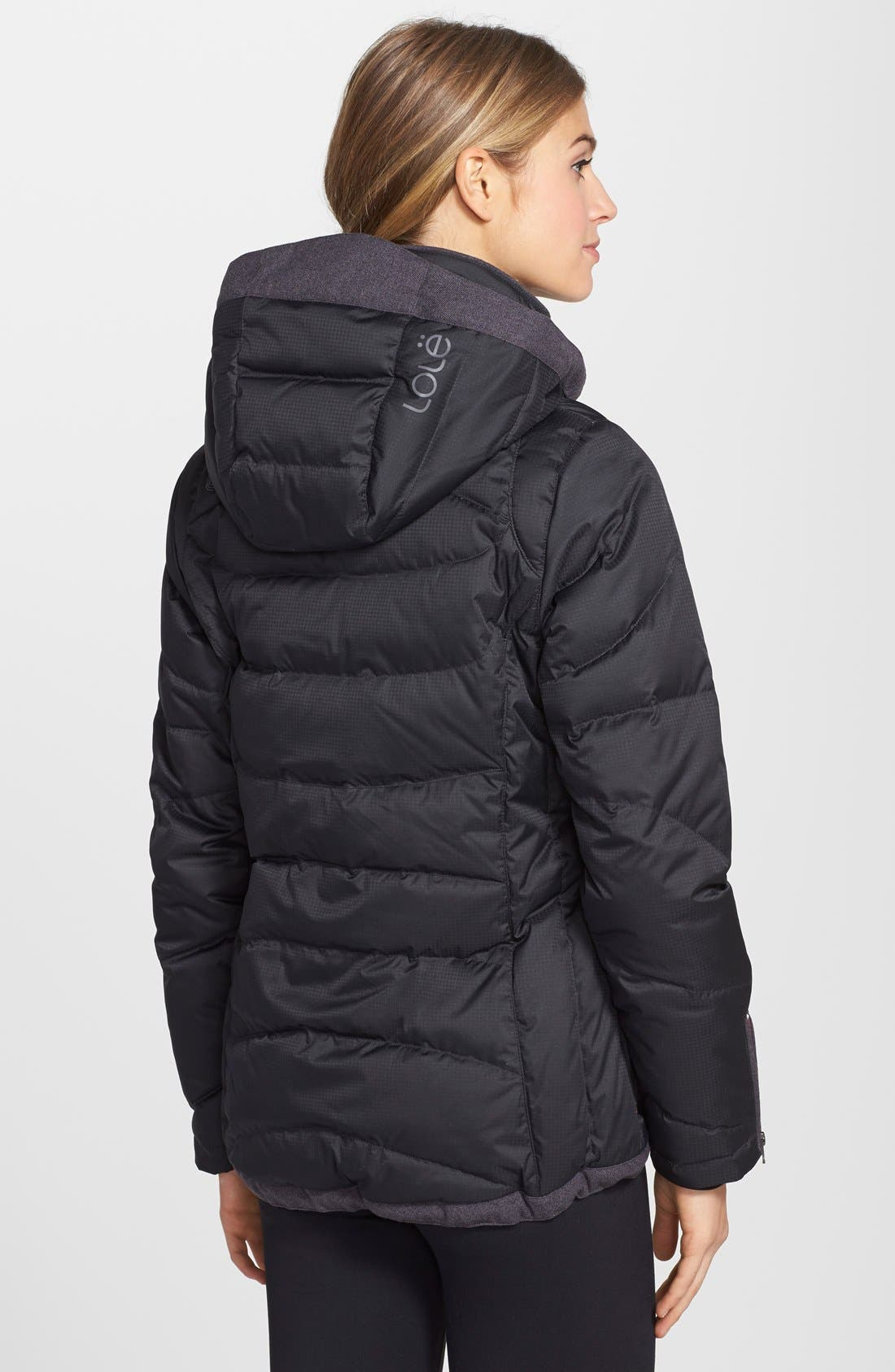 'Alta' Hooded Downglow<sup>™</sup> Quilted Jacket,                             Alternate thumbnail 2, color,                             001