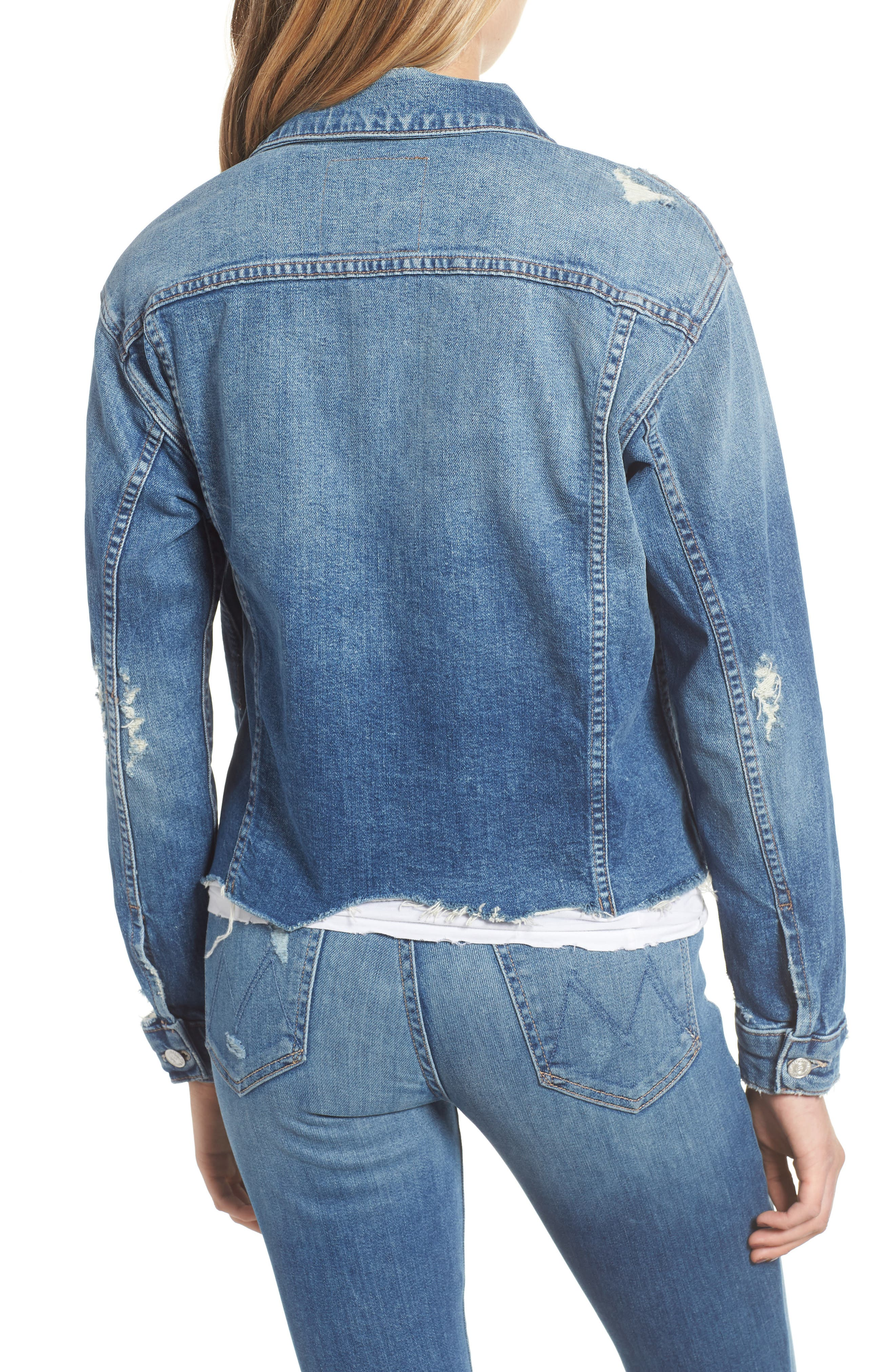 The Cut Denim Jacket,                             Alternate thumbnail 2, color,                             BETTER WHEN ITS WRONG