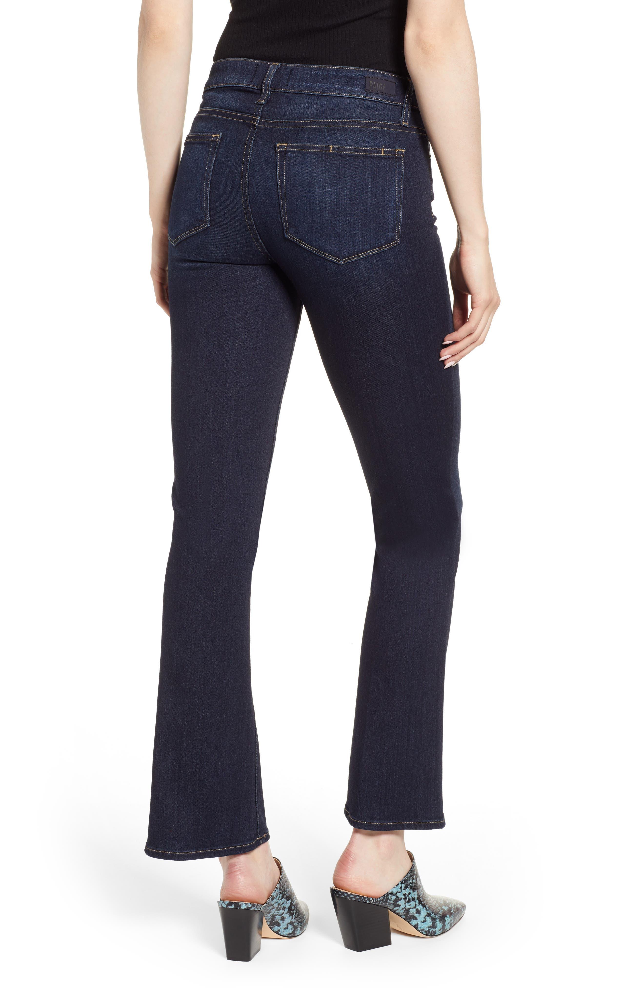Transcend - Manhattan High Waist Bootcut Jeans,                             Alternate thumbnail 2, color,                             SANIA