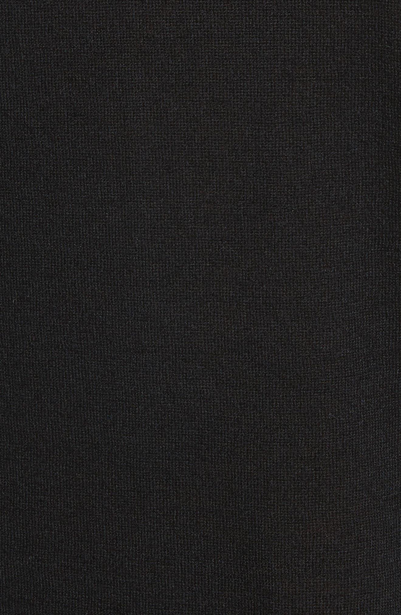 Crewneck Cashmere Sweater,                             Alternate thumbnail 5, color,                             001