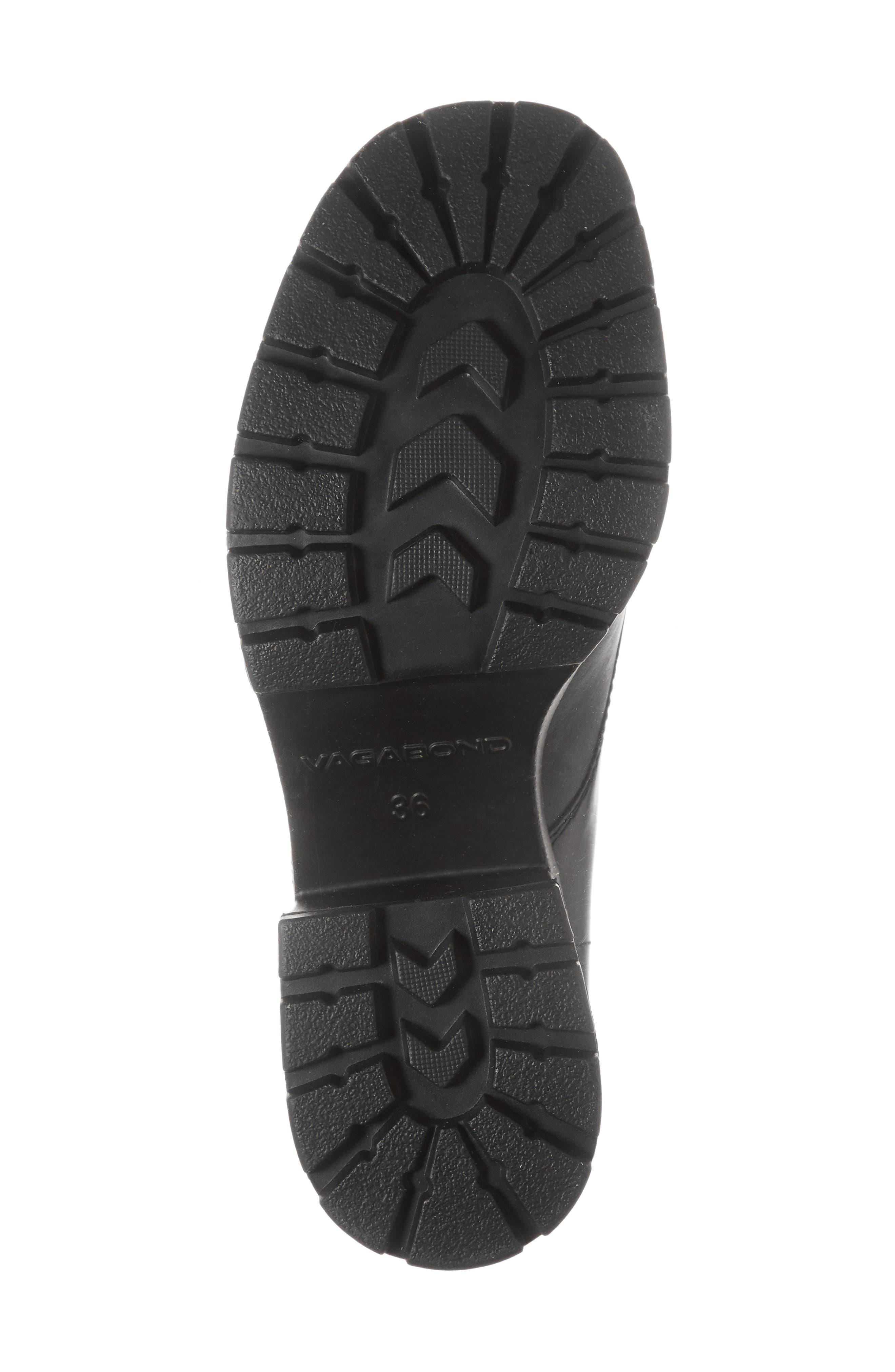 VAGABOND,                             Shoemakers Dioon Cap Toe Bootie,                             Alternate thumbnail 6, color,                             BLACK LEATHER