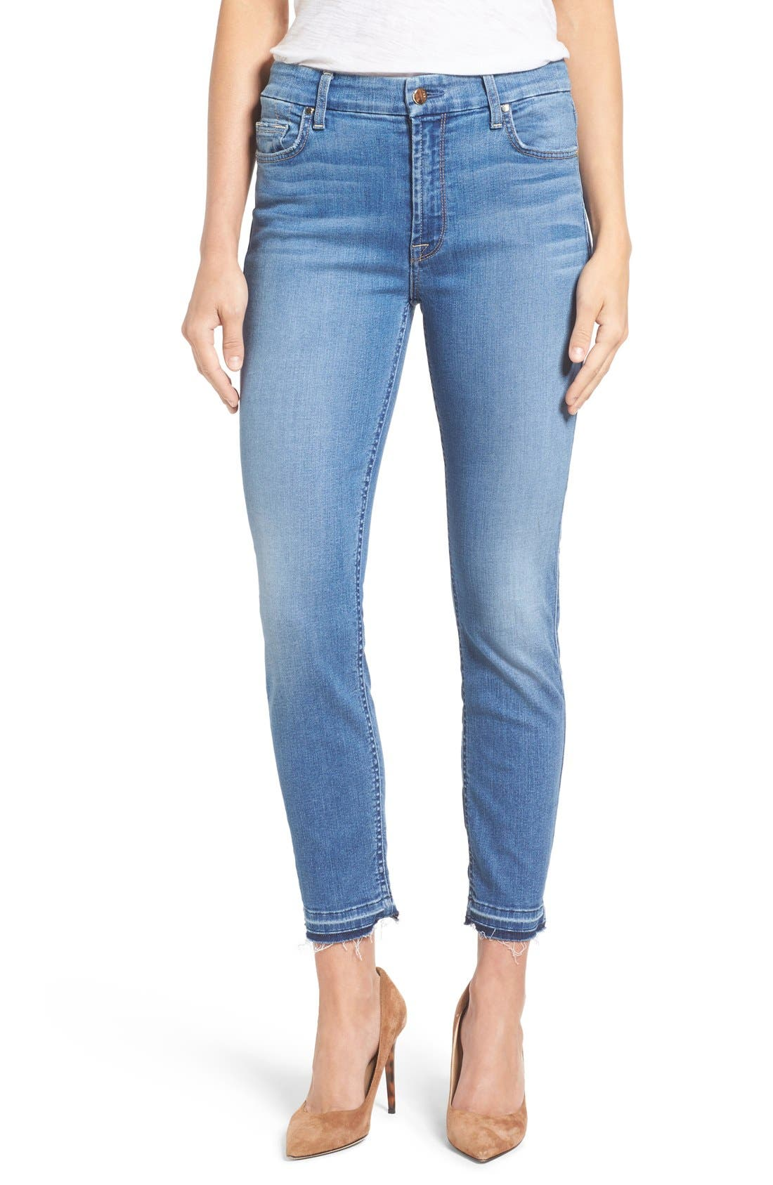 Release Hem Stretch Ankle Skinny Jeans,                             Main thumbnail 1, color,