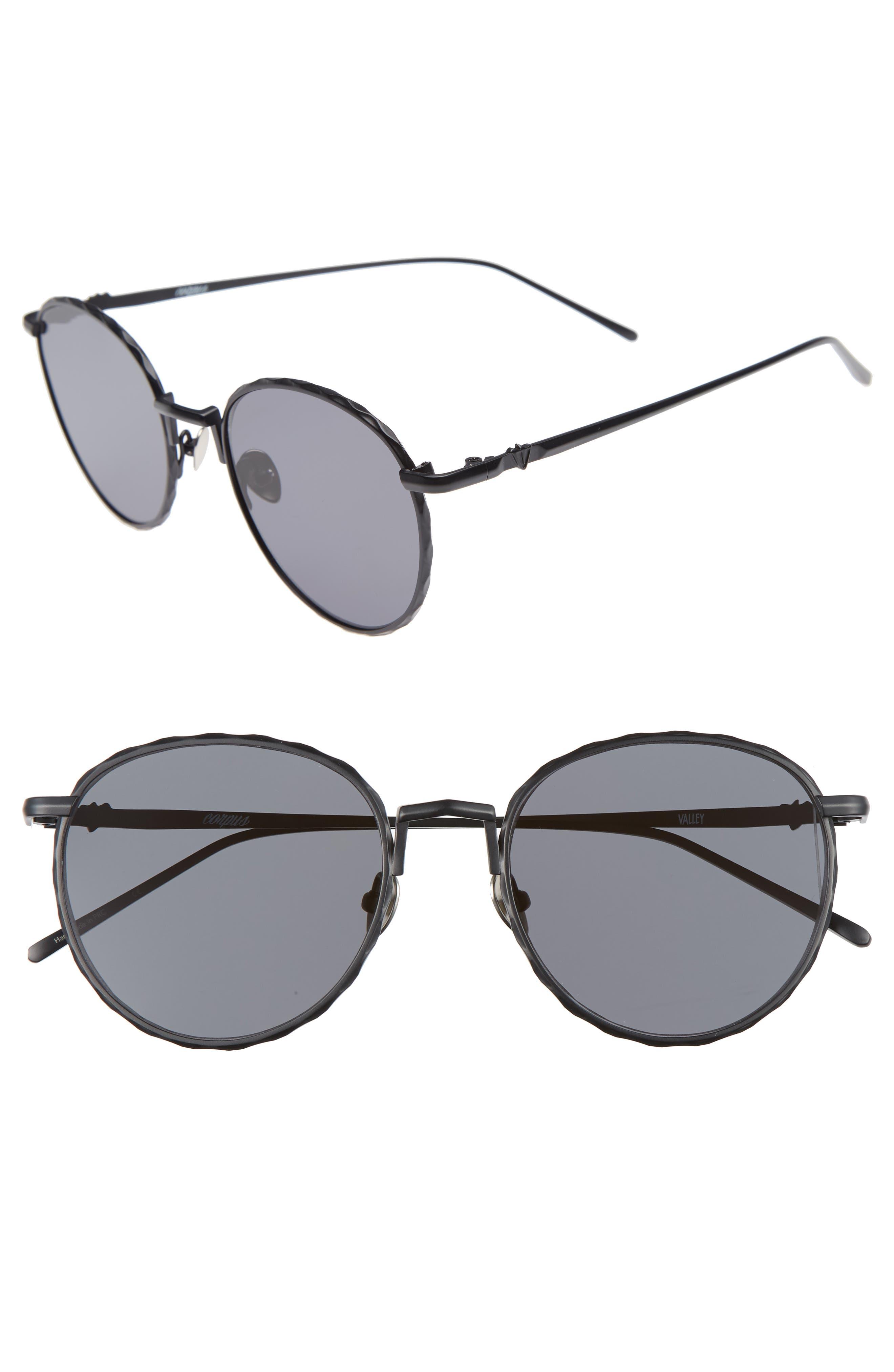 Corpus 53mm Round Sunglasses,                             Alternate thumbnail 2, color,                             001